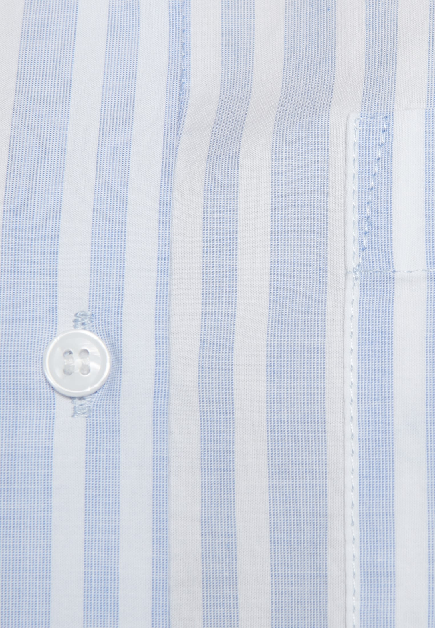 Fil a fil Shirt Blouse made of 100% Cotton in Light blue |  Seidensticker Onlineshop