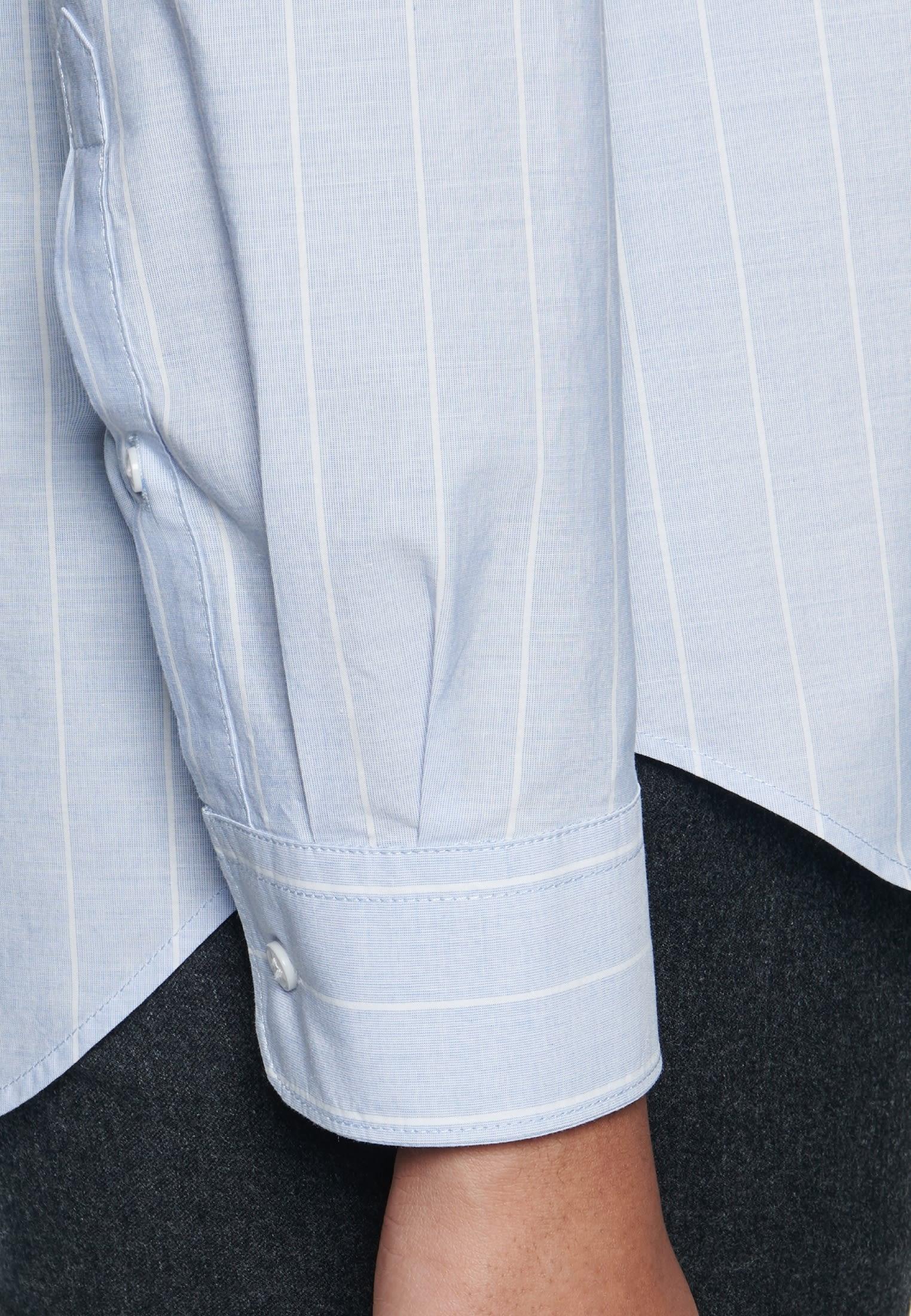 Fil a fil Hemdbluse aus 100% Baumwolle in Hellblau |  Seidensticker Onlineshop