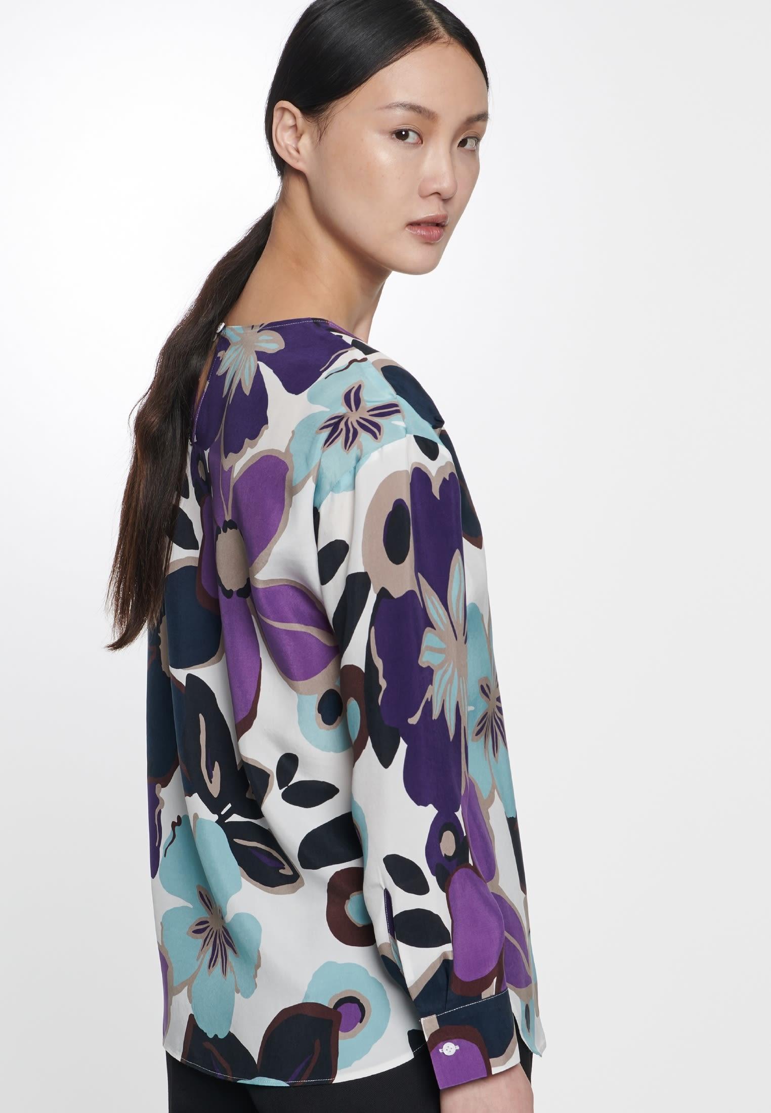 Shirtbluse aus 100% Cupro in Ecru |  Seidensticker Onlineshop