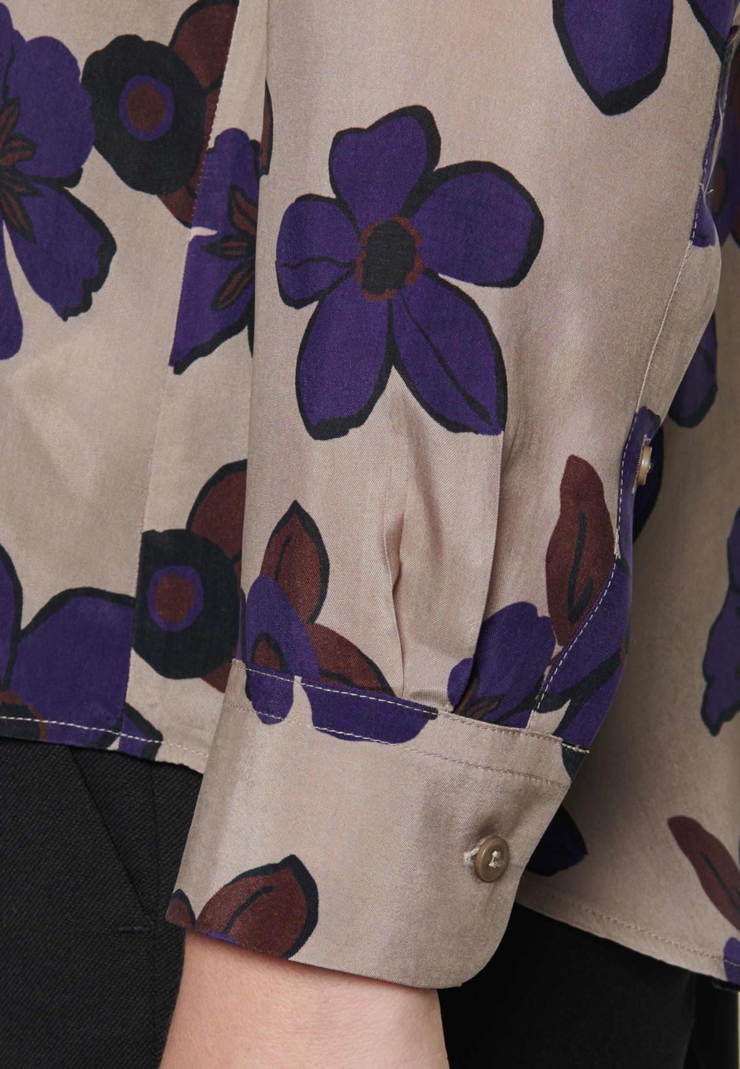 Hemdbluse aus 100% Cupro in Braun |  Seidensticker Onlineshop