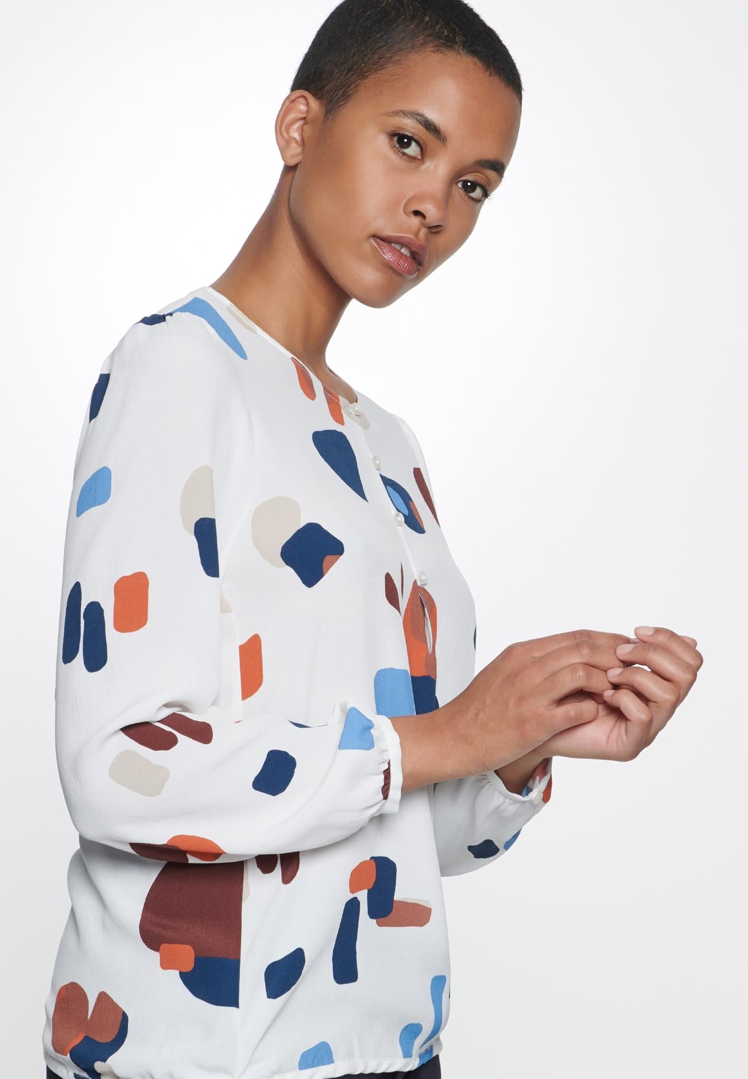 Crepe Shirt Blouse made of 100% Viskose in Medium blue |  Seidensticker Onlineshop