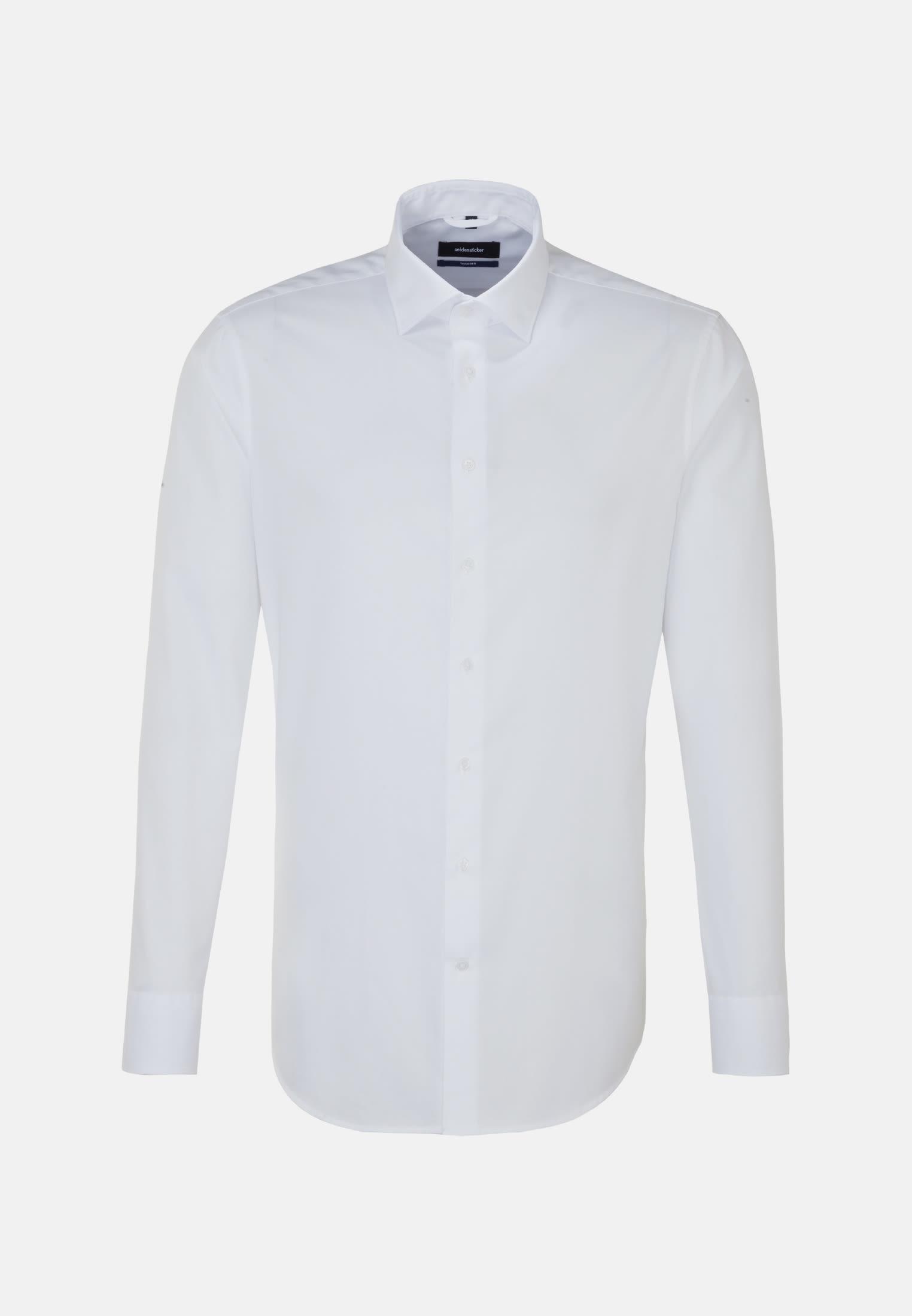 Easy-iron Twill Business Shirt in Tailored with Kent-Collar in weiß |  Seidensticker Onlineshop