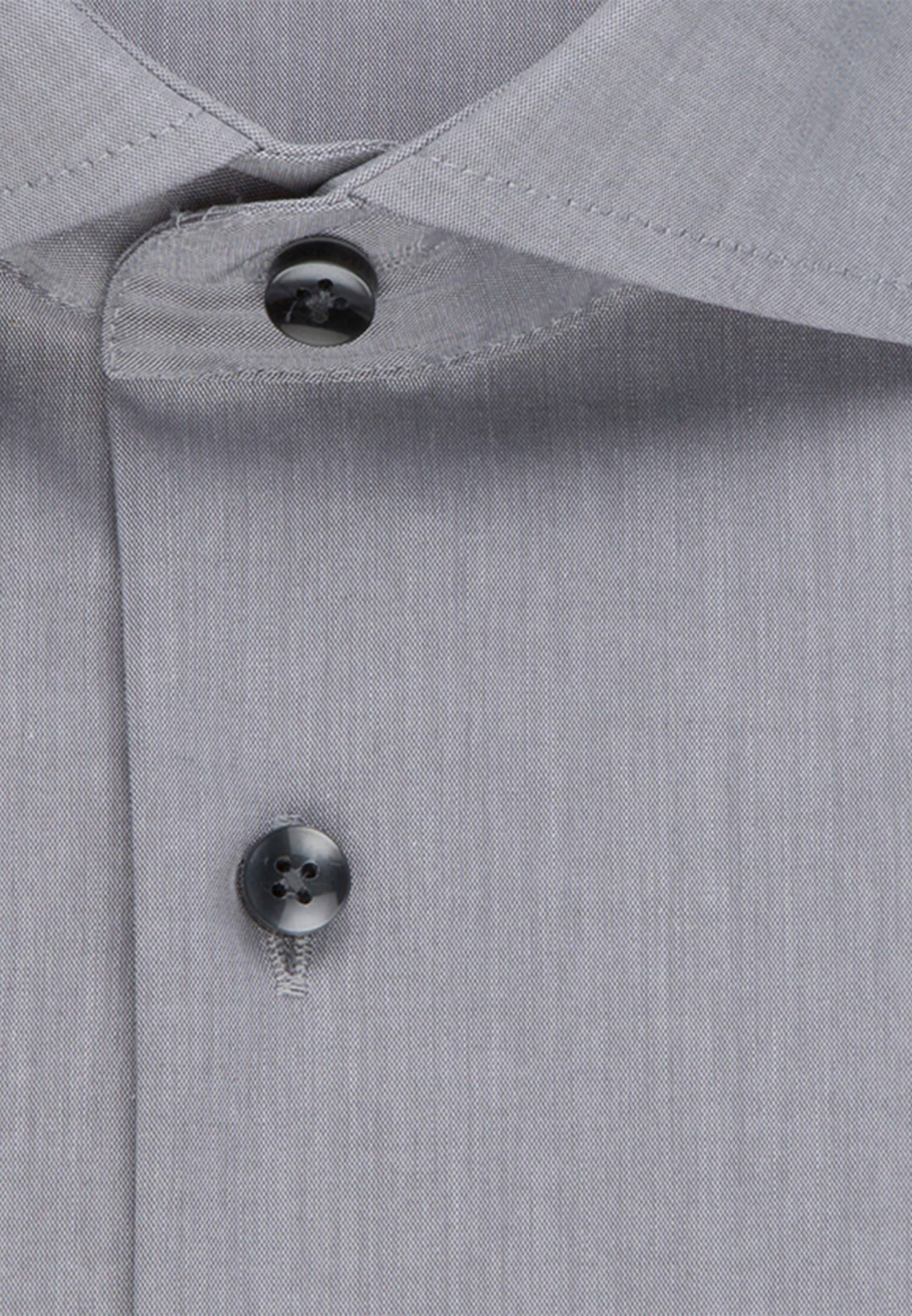 Non-iron Poplin Business Shirt in X-Slim with Kent-Collar in grau |  Seidensticker Onlineshop