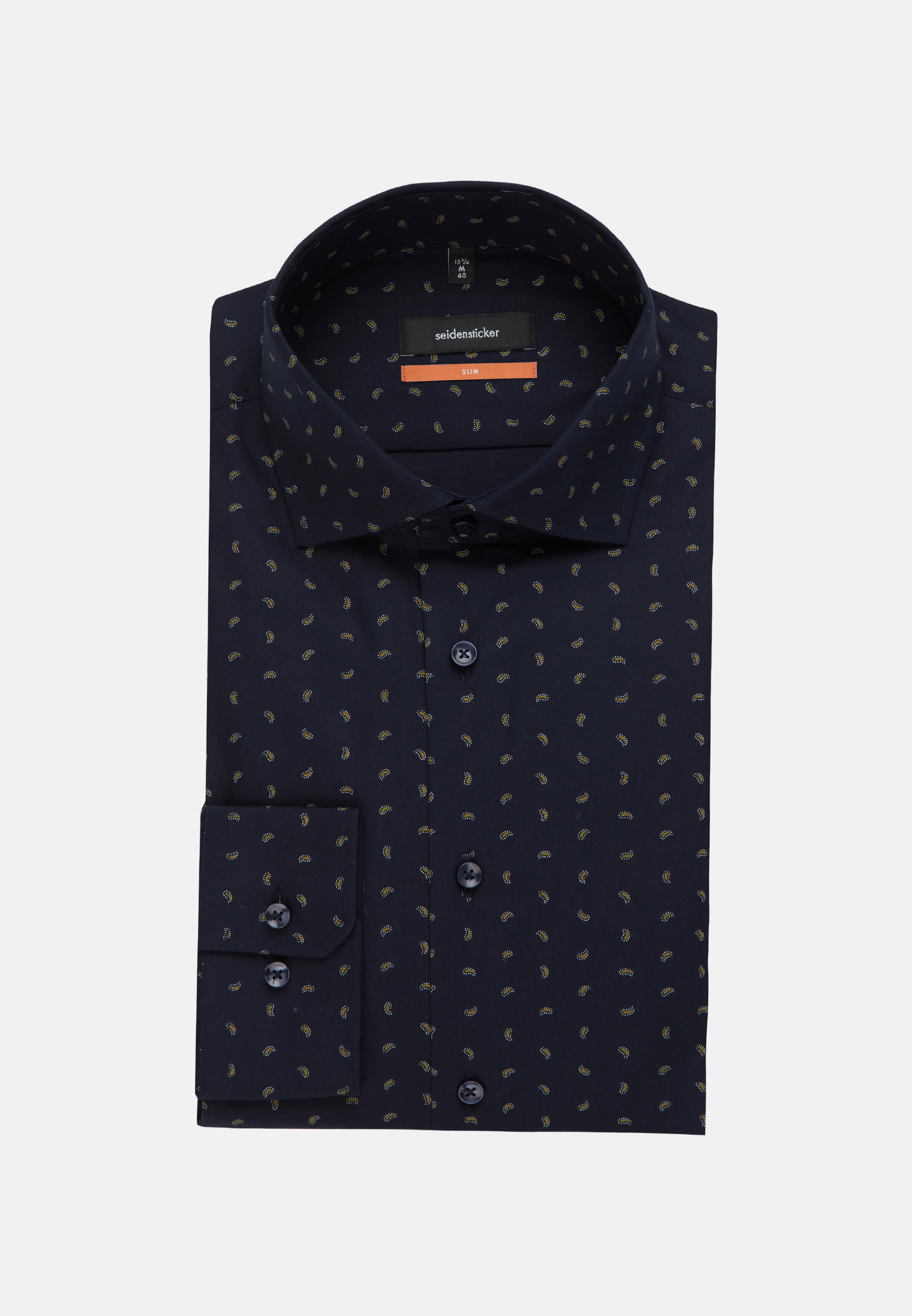 Easy-iron Poplin Business Shirt in Slim with Kent-Collar in Yellow |  Seidensticker Onlineshop