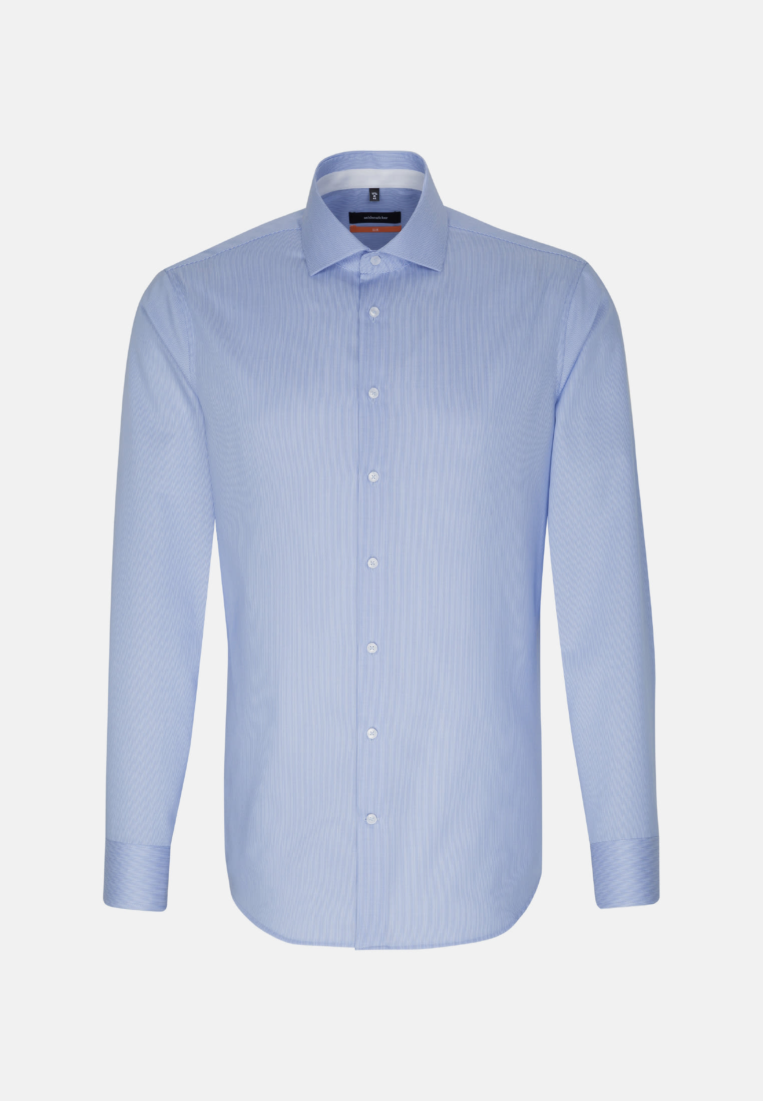 Non-iron Twill Business Shirt in Slim with Kent-Collar and extra long arm in Light blue |  Seidensticker Onlineshop
