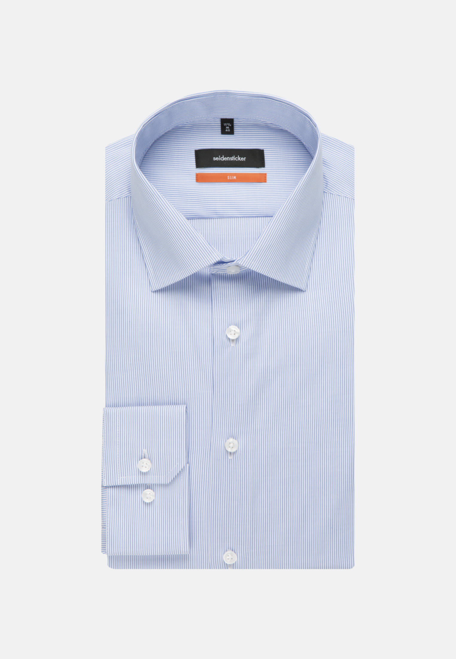 Easy-iron Cotele Business Shirt in Slim with Kent-Collar in Light blue |  Seidensticker Onlineshop