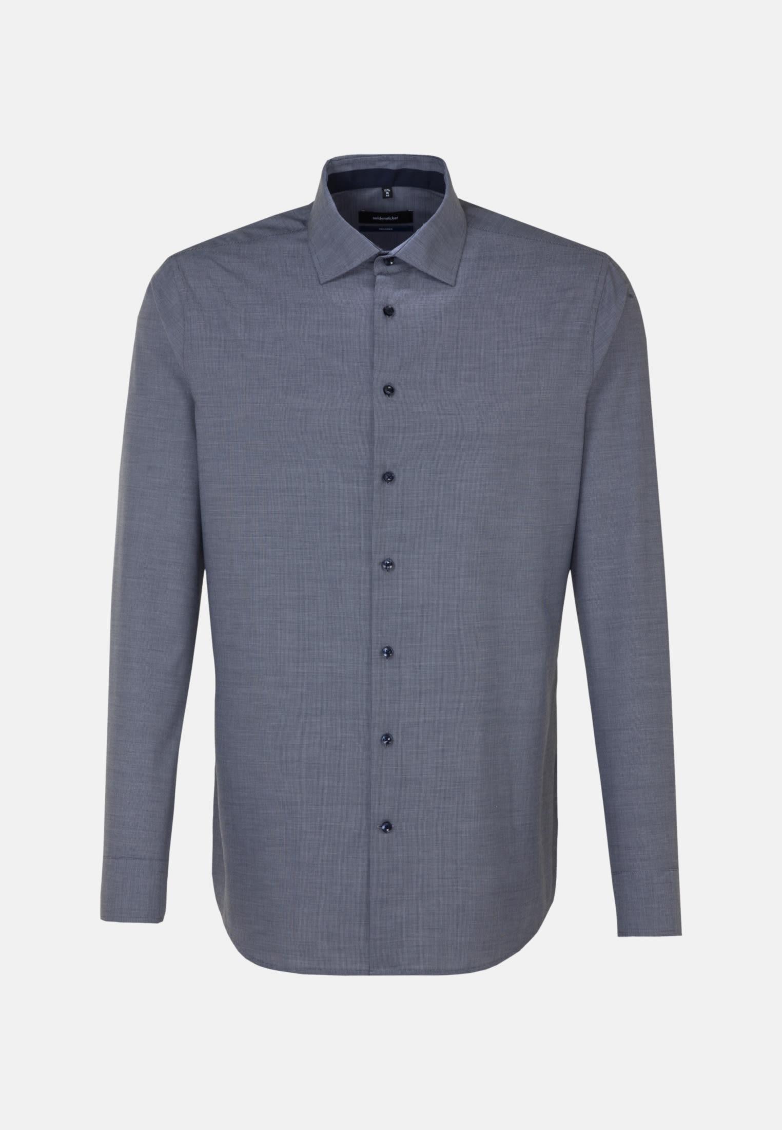 Non-iron Structure Business Shirt in Shaped with Kent-Collar in Dark blue |  Seidensticker Onlineshop