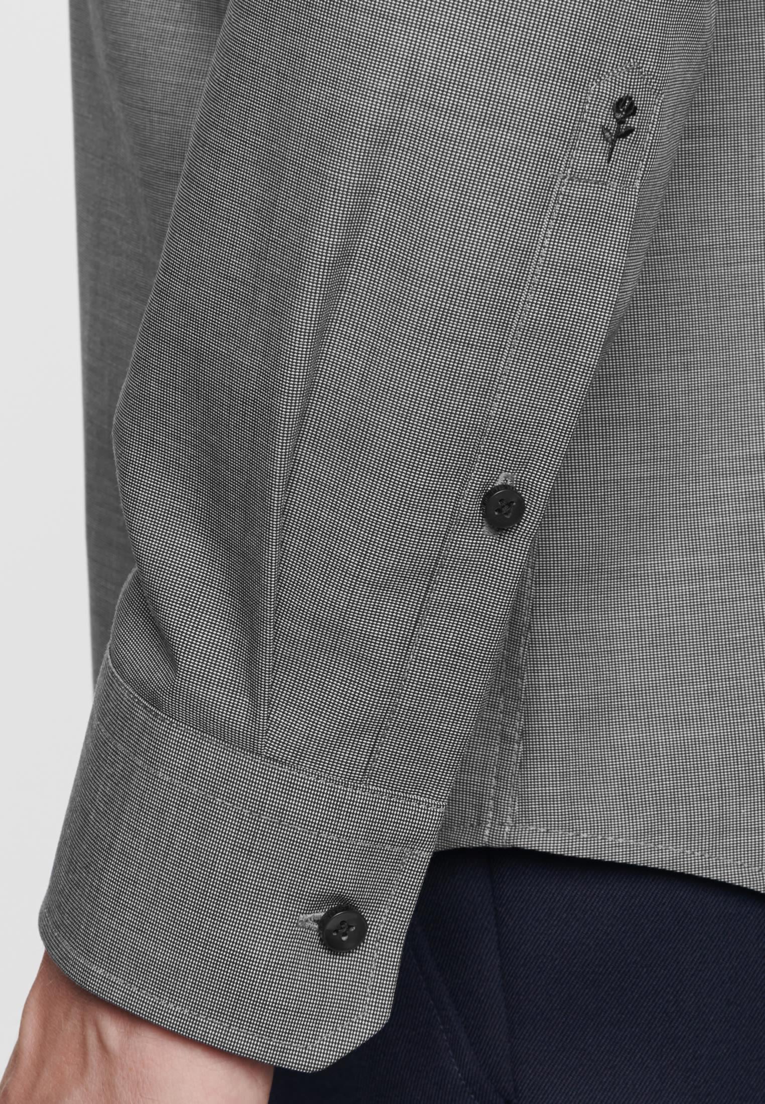 Bügelfreies Struktur Business Hemd in X-Slim mit Kentkragen in Grau |  Seidensticker Onlineshop