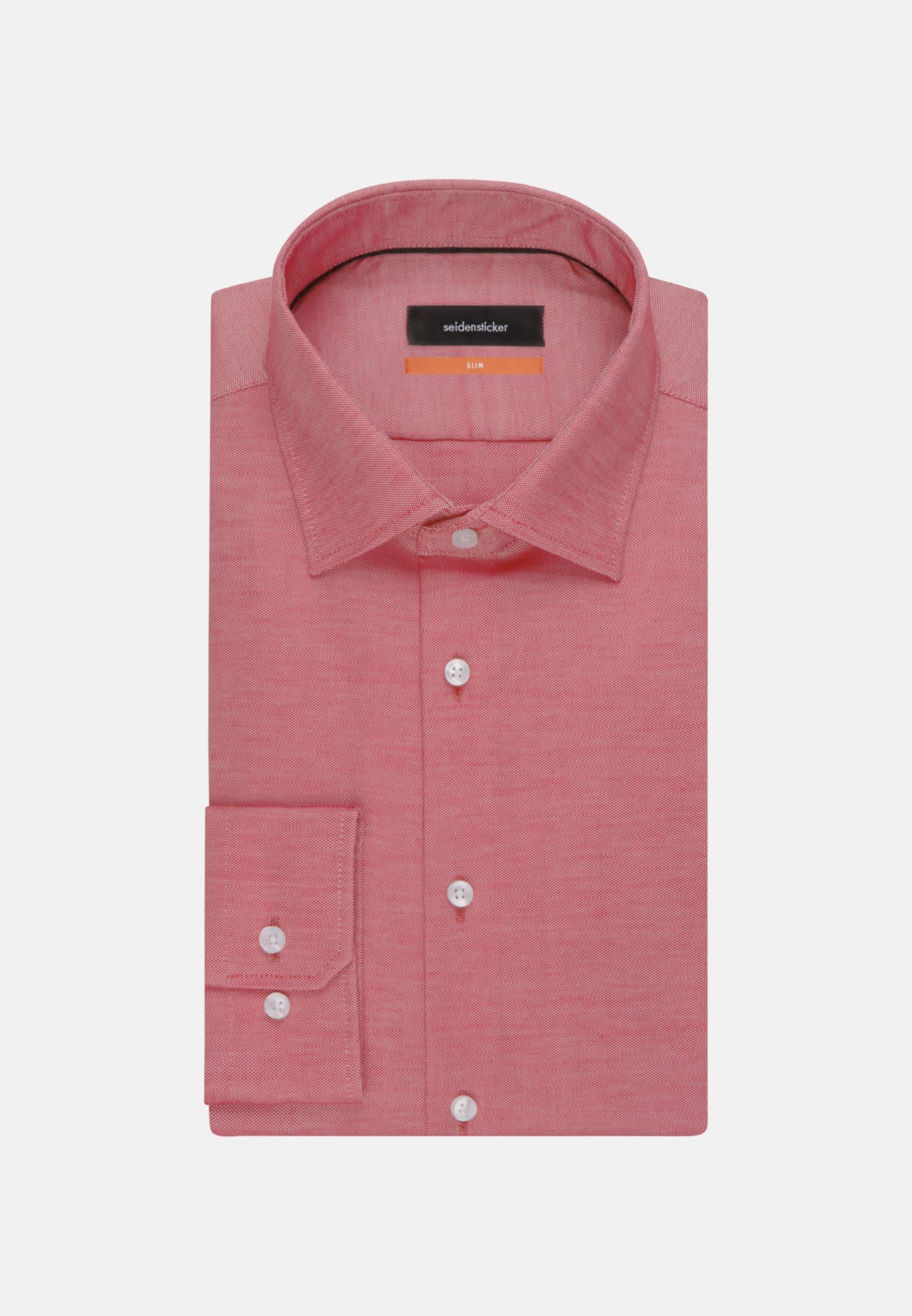 Non-iron Structure Business Shirt in Slim with Kent-Collar in Red    Seidensticker Onlineshop