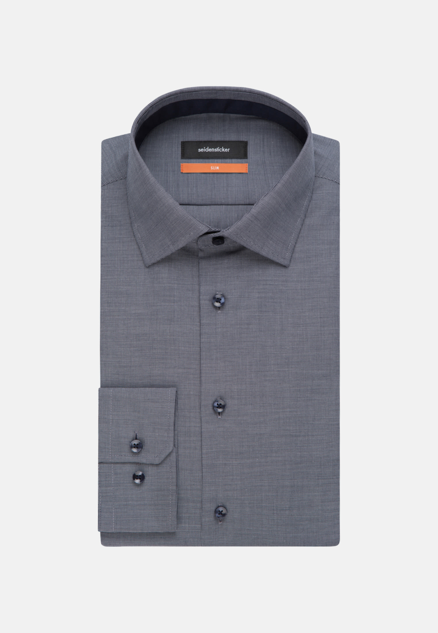 Non-iron Structure Business Shirt in Slim with Kent-Collar in blau |  Seidensticker Onlineshop