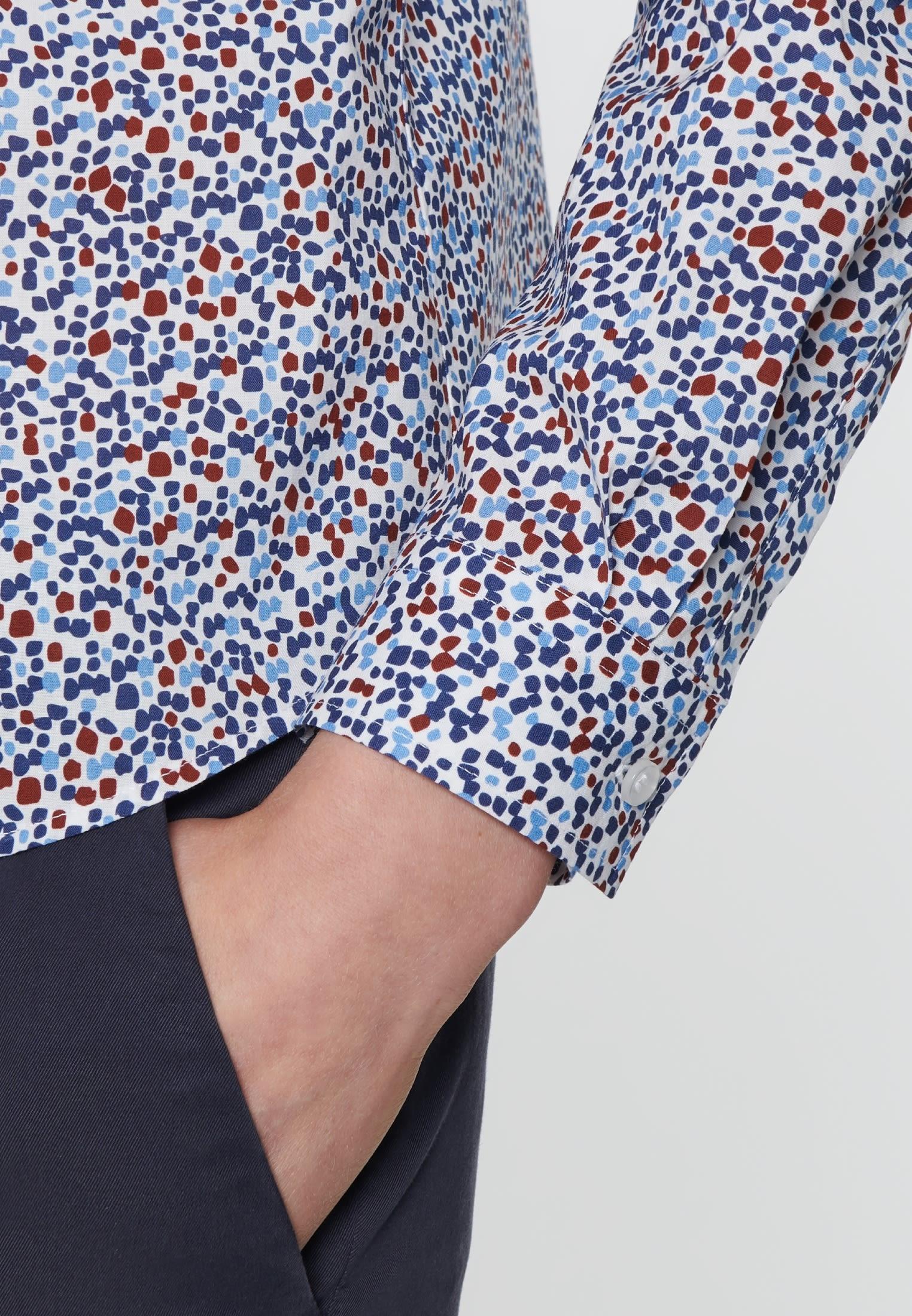 Voile Hemdbluse aus 100% Baumwolle in Mittelblau |  Seidensticker Onlineshop
