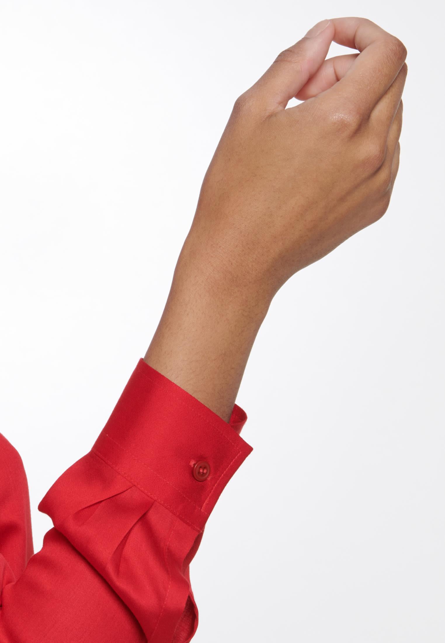 Satin Hemdbluse aus 100% Viskose in Rot    Seidensticker Onlineshop