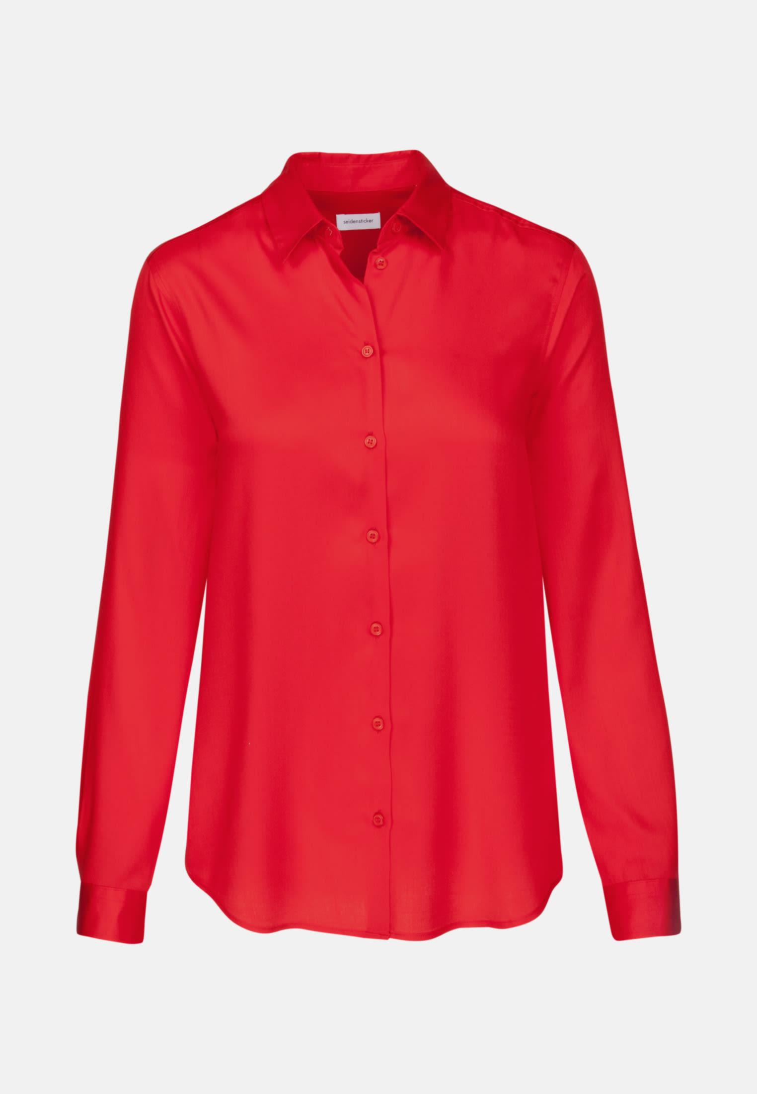 Satin Hemdbluse aus 100% Viskose in Rot |  Seidensticker Onlineshop
