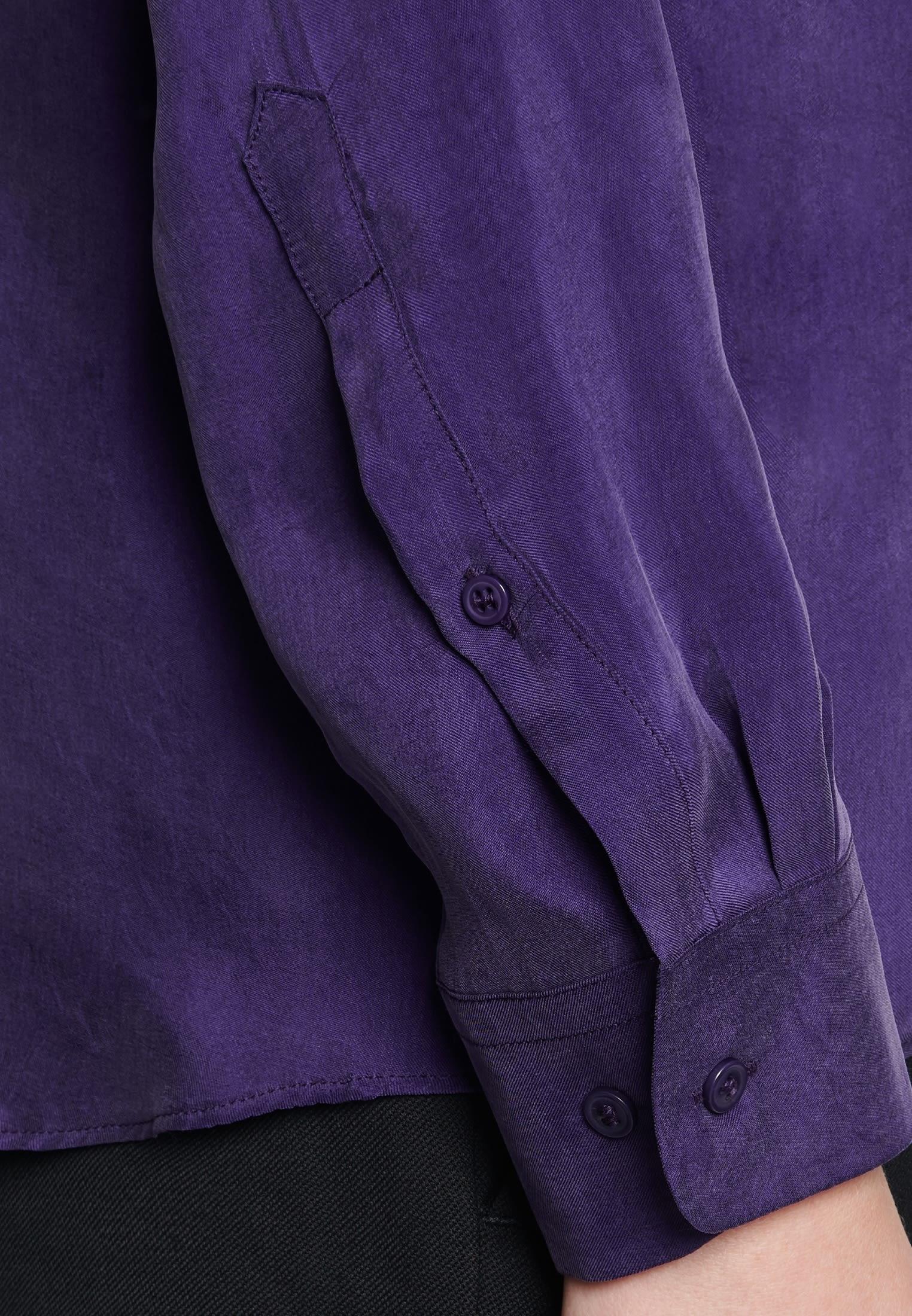 Hemdbluse aus Rayonmischung in Lila |  Seidensticker Onlineshop