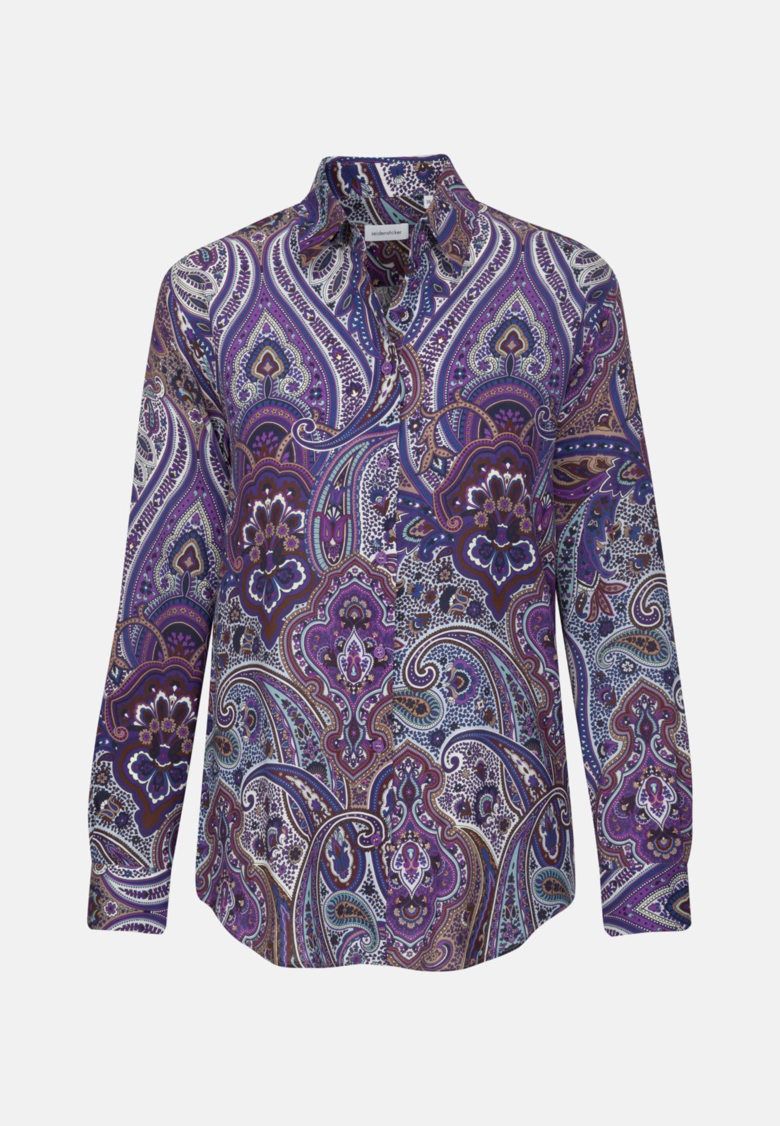 Voile Shirt Blouse made of 100% Viskose in Purpla |  Seidensticker Onlineshop
