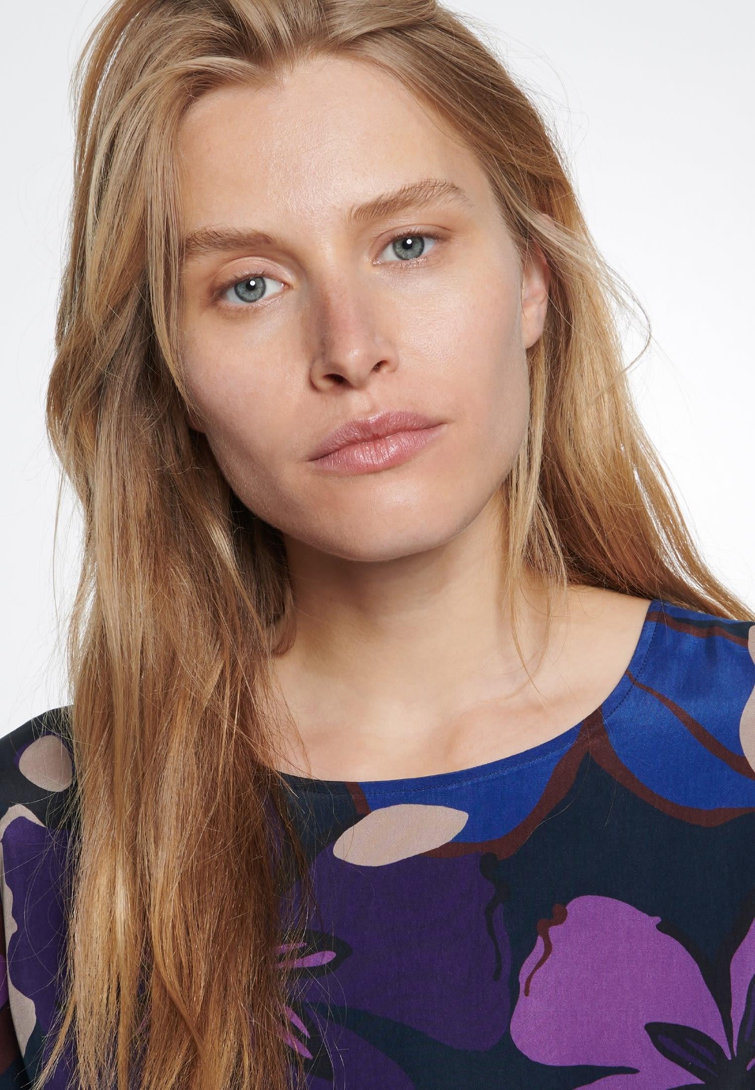 Midi Kleid aus 100% Cupro in Dunkelblau |  Seidensticker Onlineshop
