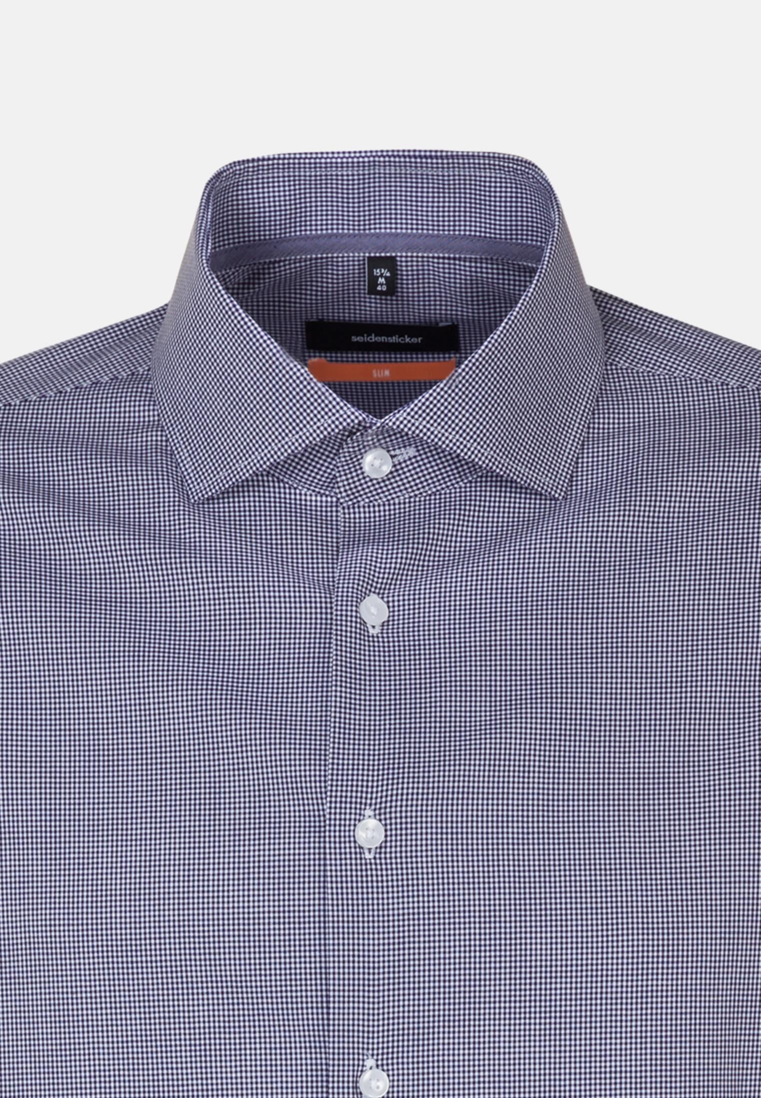 Non-iron Poplin Business Shirt in Slim with Kent-Collar in Purple |  Seidensticker Onlineshop