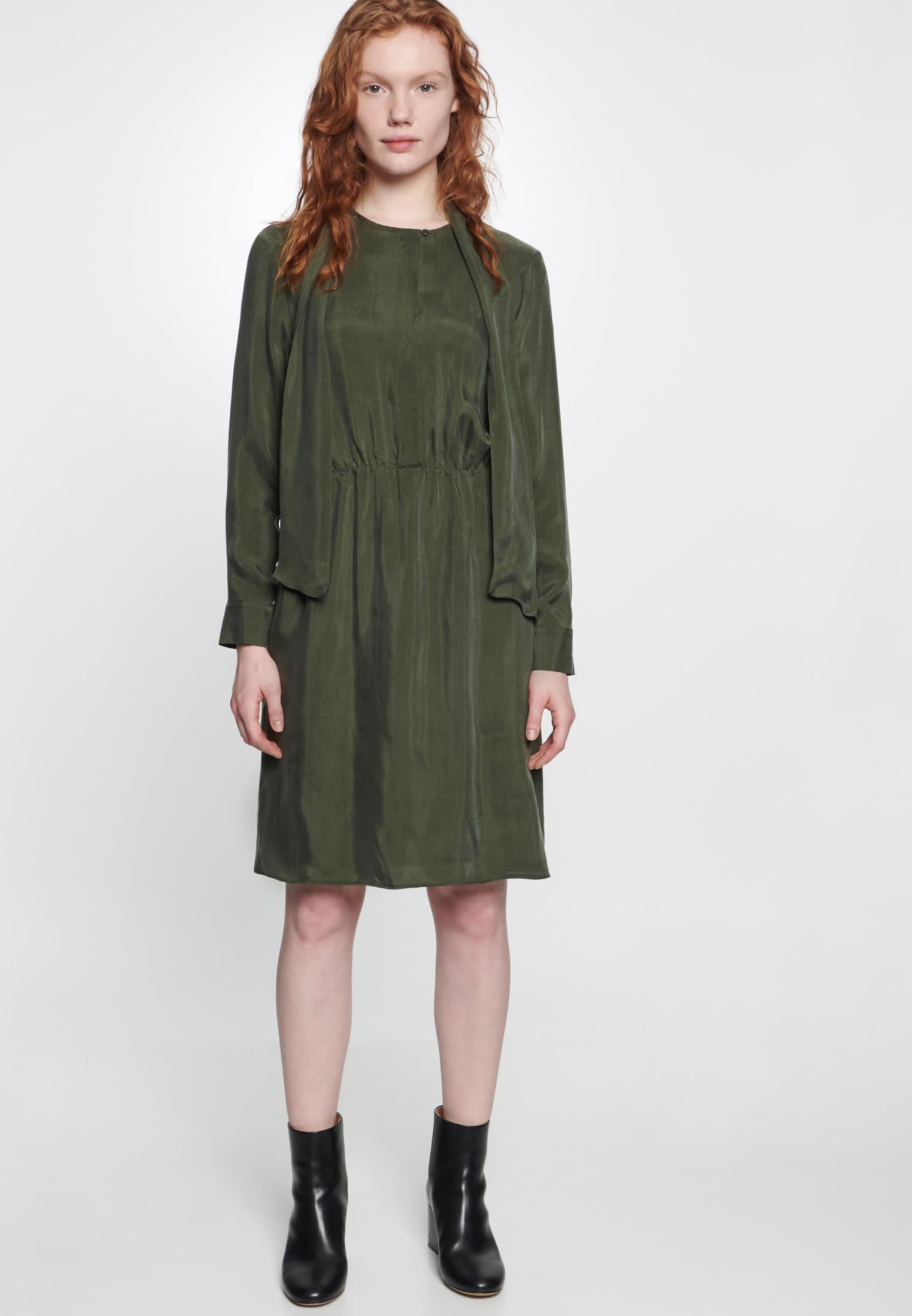 Kleid aus 55% Rayon 45% Cupro in Grün |  Seidensticker Onlineshop