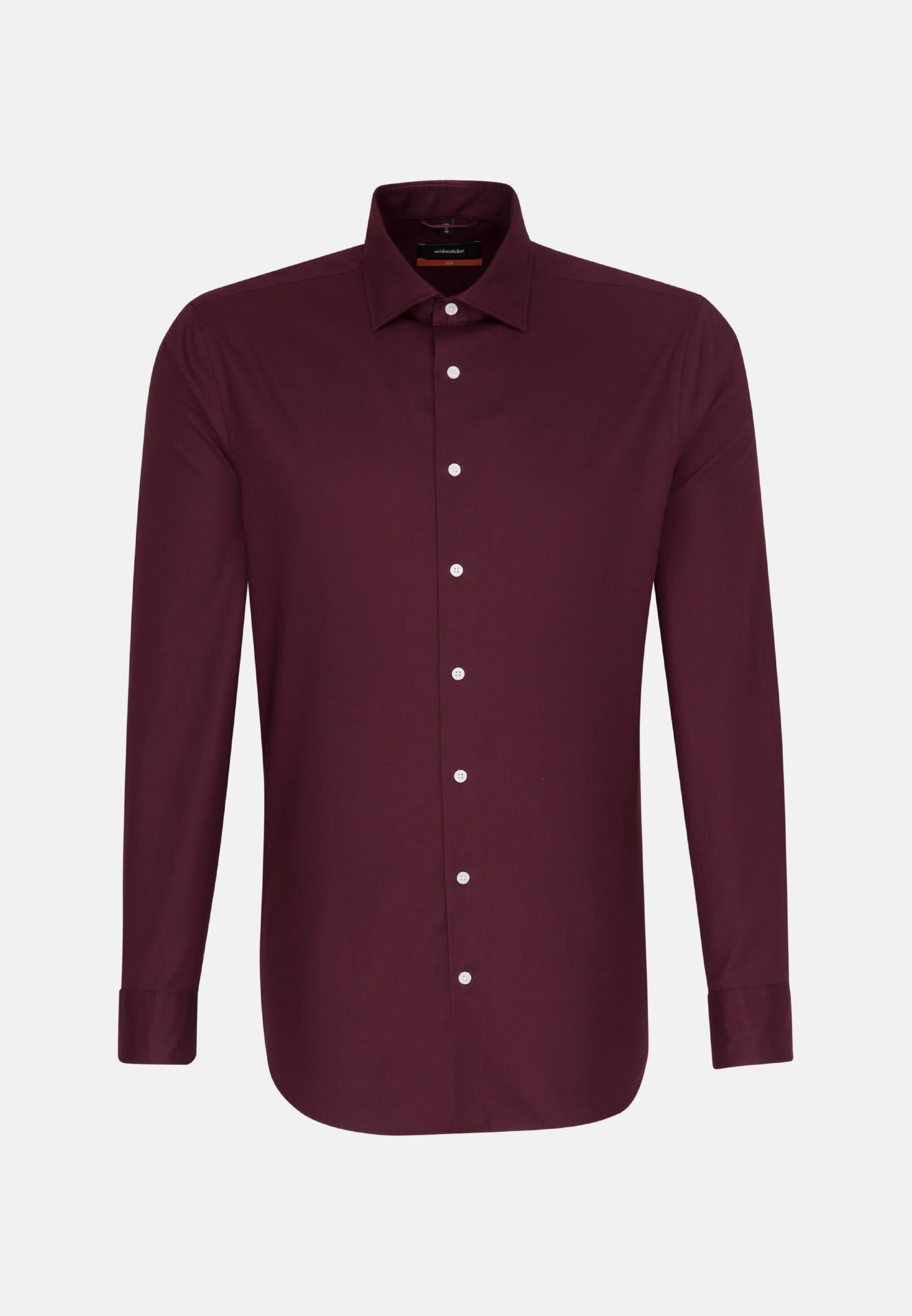 Easy-iron Twill Business Shirt in Slim with Kent-Collar in Red |  Seidensticker Onlineshop