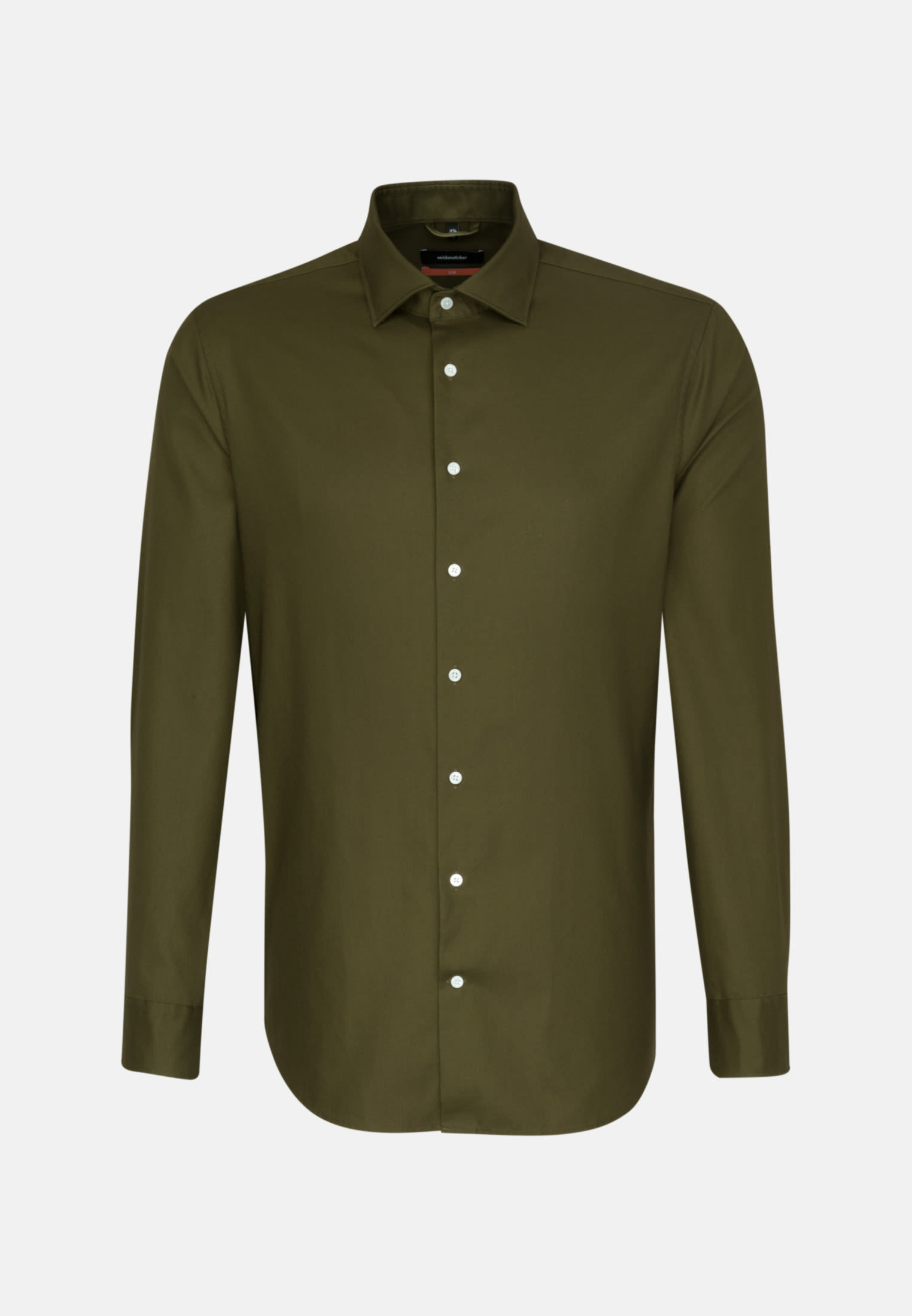 Easy-iron Twill Business Shirt in Slim with Kent-Collar in Green |  Seidensticker Onlineshop
