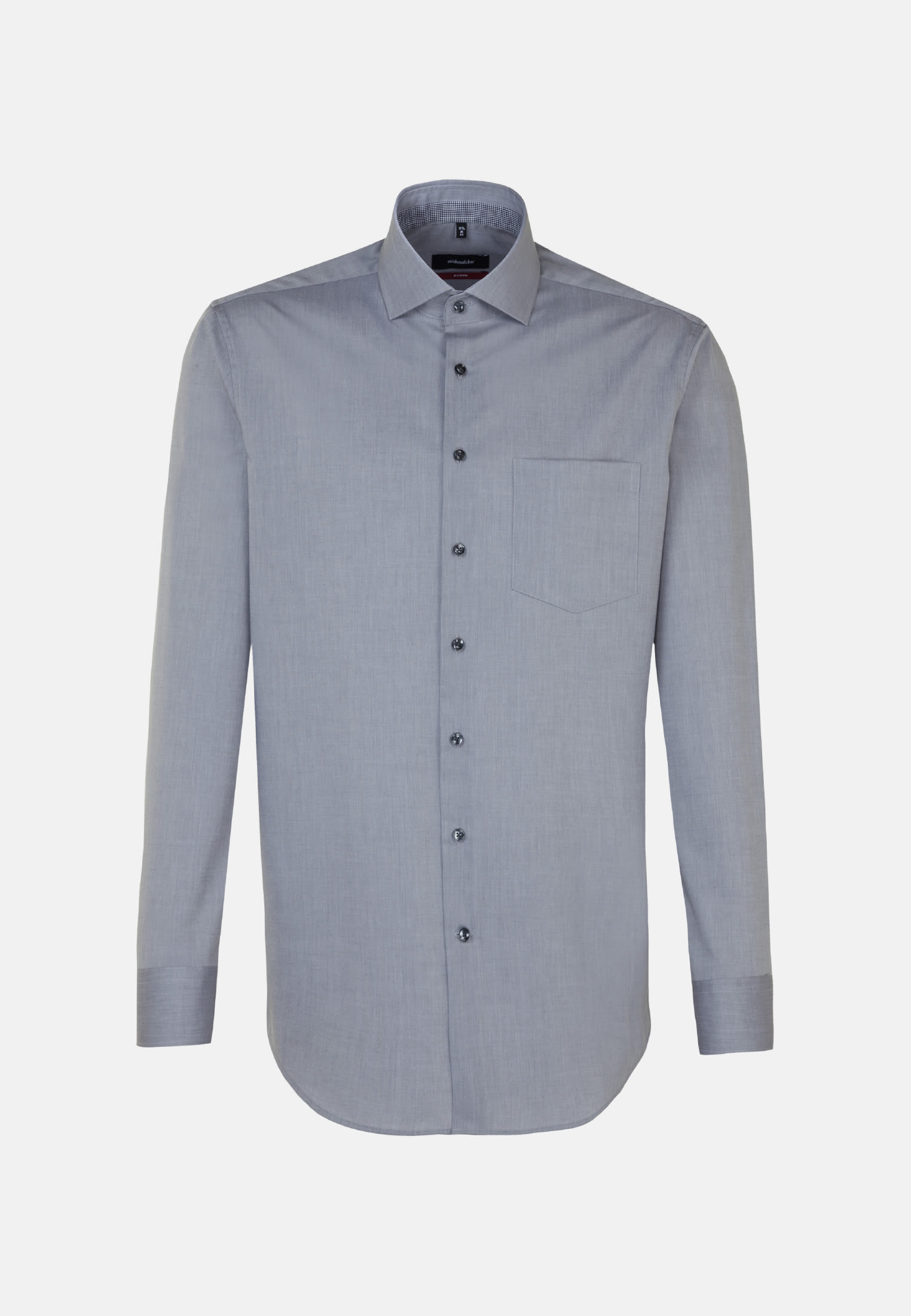Non-iron Poplin Business Shirt in Modern with Kent-Collar in Grey |  Seidensticker Onlineshop