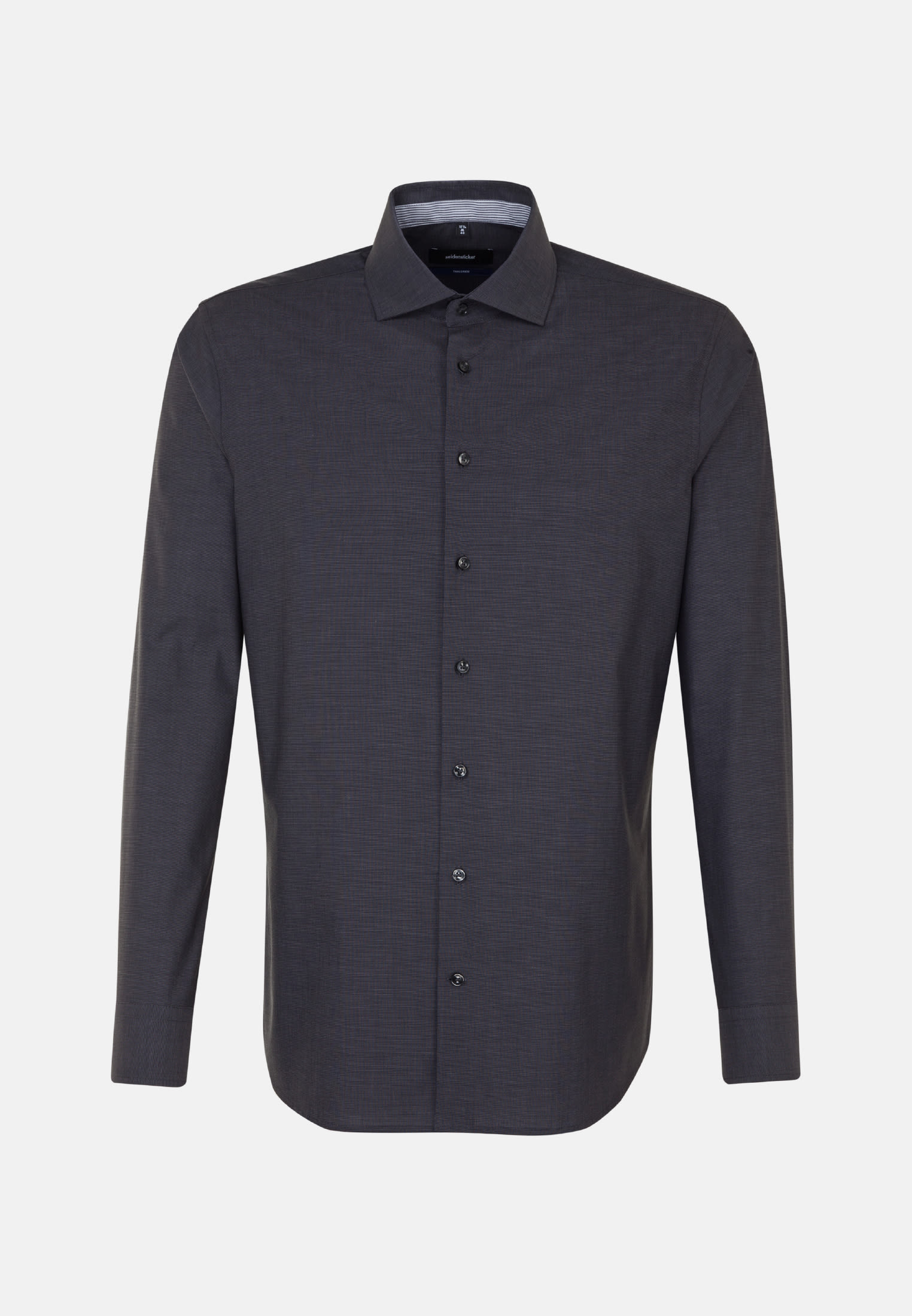 Bügelfreies Fil a fil Business Hemd in Tailored mit Kentkragen in Grau |  Seidensticker Onlineshop