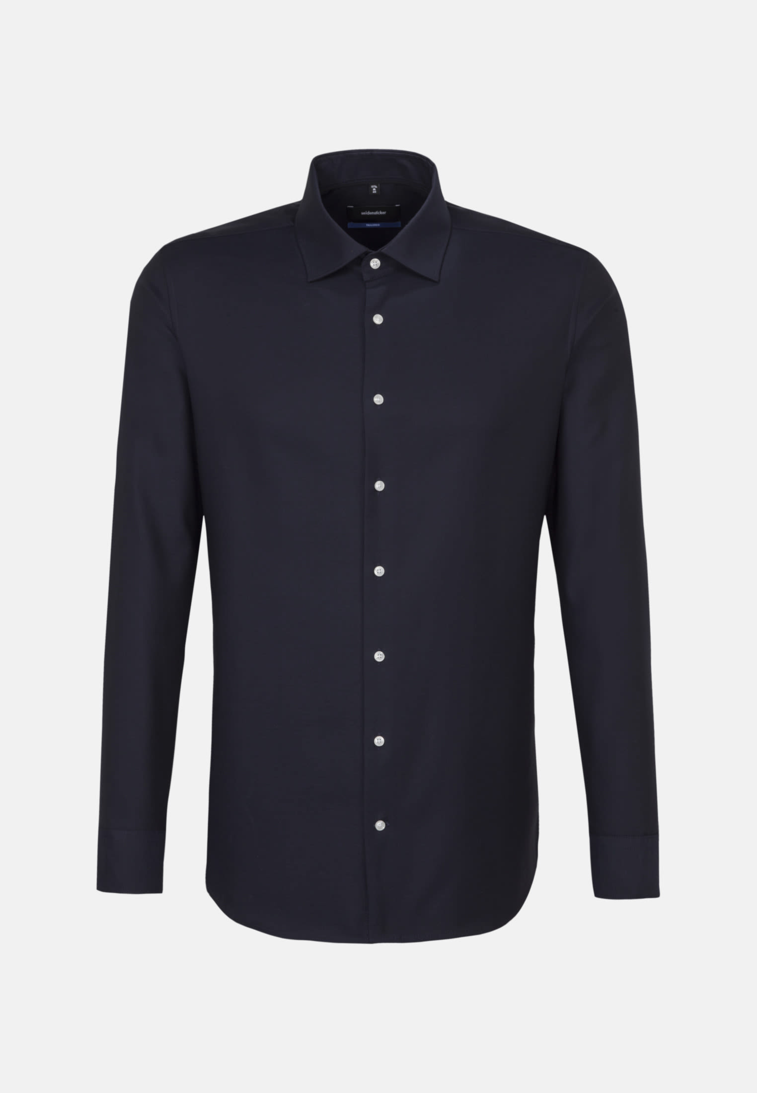 Non-iron Structure Business Shirt in Shaped with Kent-Collar and extra long sleeve in Dark blue |  Seidensticker Onlineshop