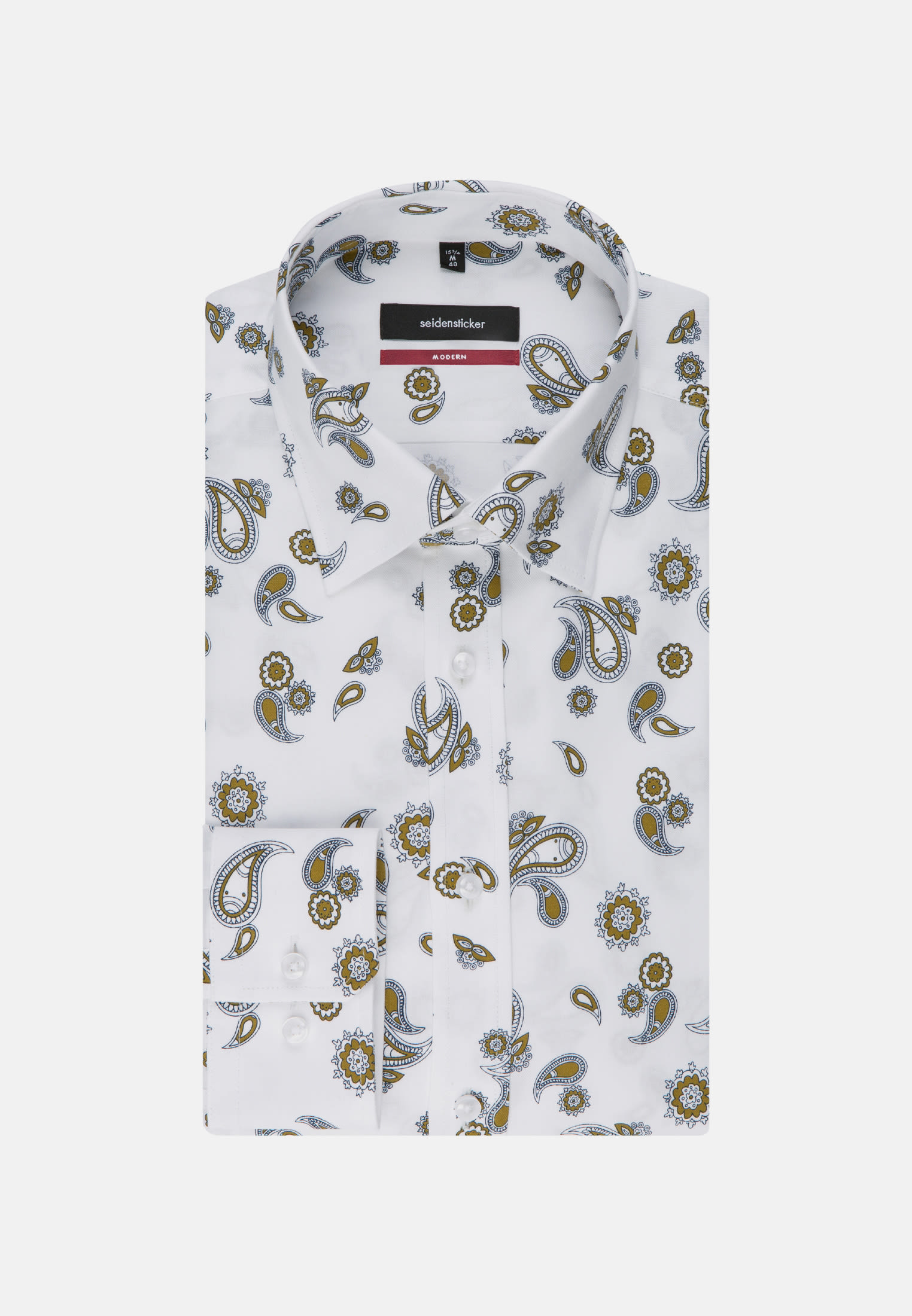 Easy-iron Twill Business Shirt in Regular with Covered-Button-Down-Collar in Yellow |  Seidensticker Onlineshop