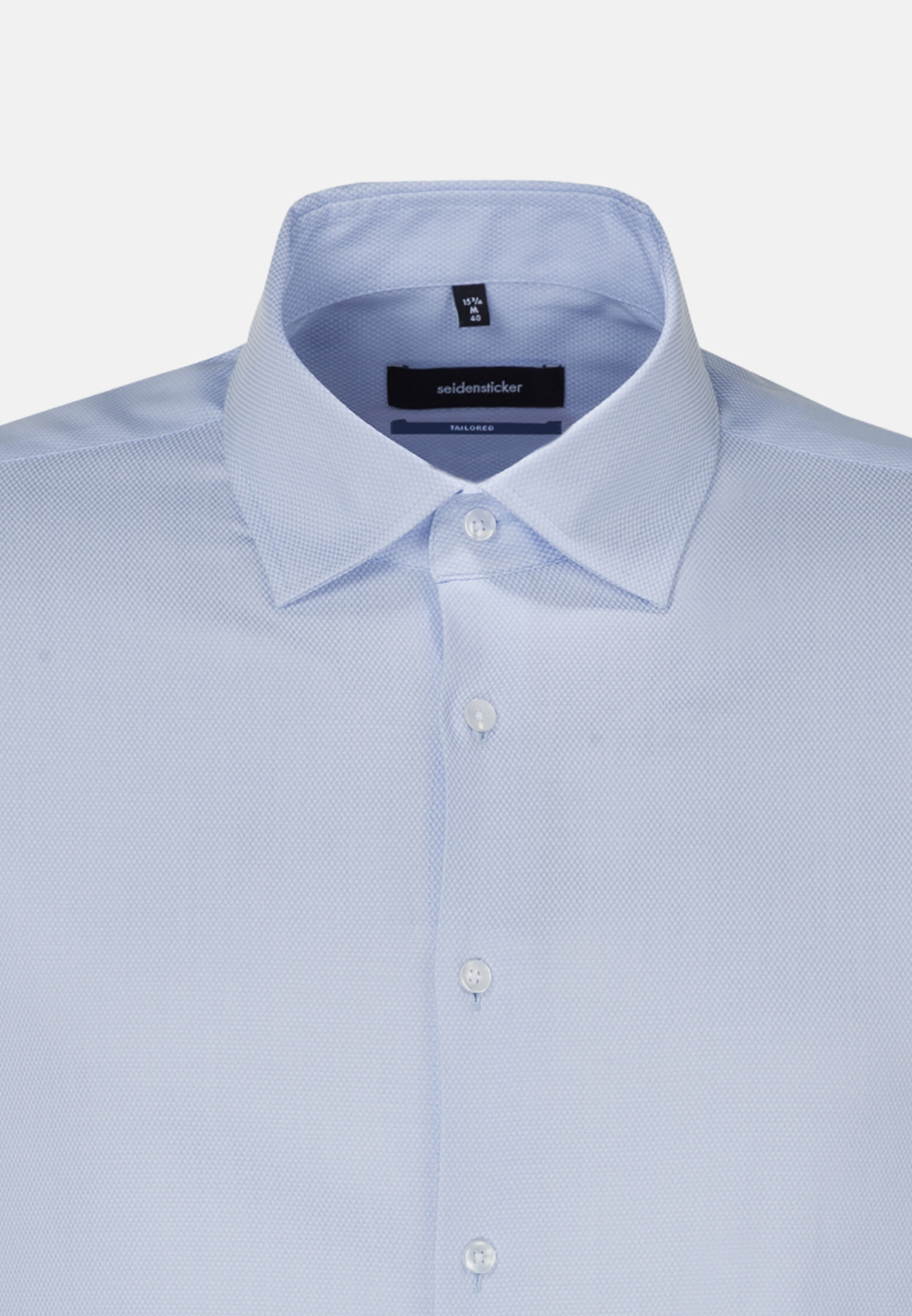 Easy-iron Structure Business Shirt in Tailored with Kent-Collar in Light blue |  Seidensticker Onlineshop