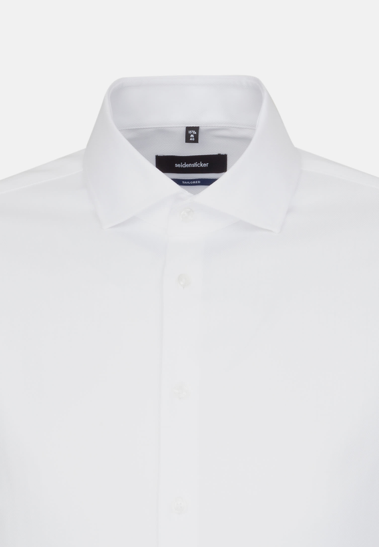 Easy-iron Herringbone pattern Business Shirt in Tailored with Kent-Collar in White |  Seidensticker Onlineshop