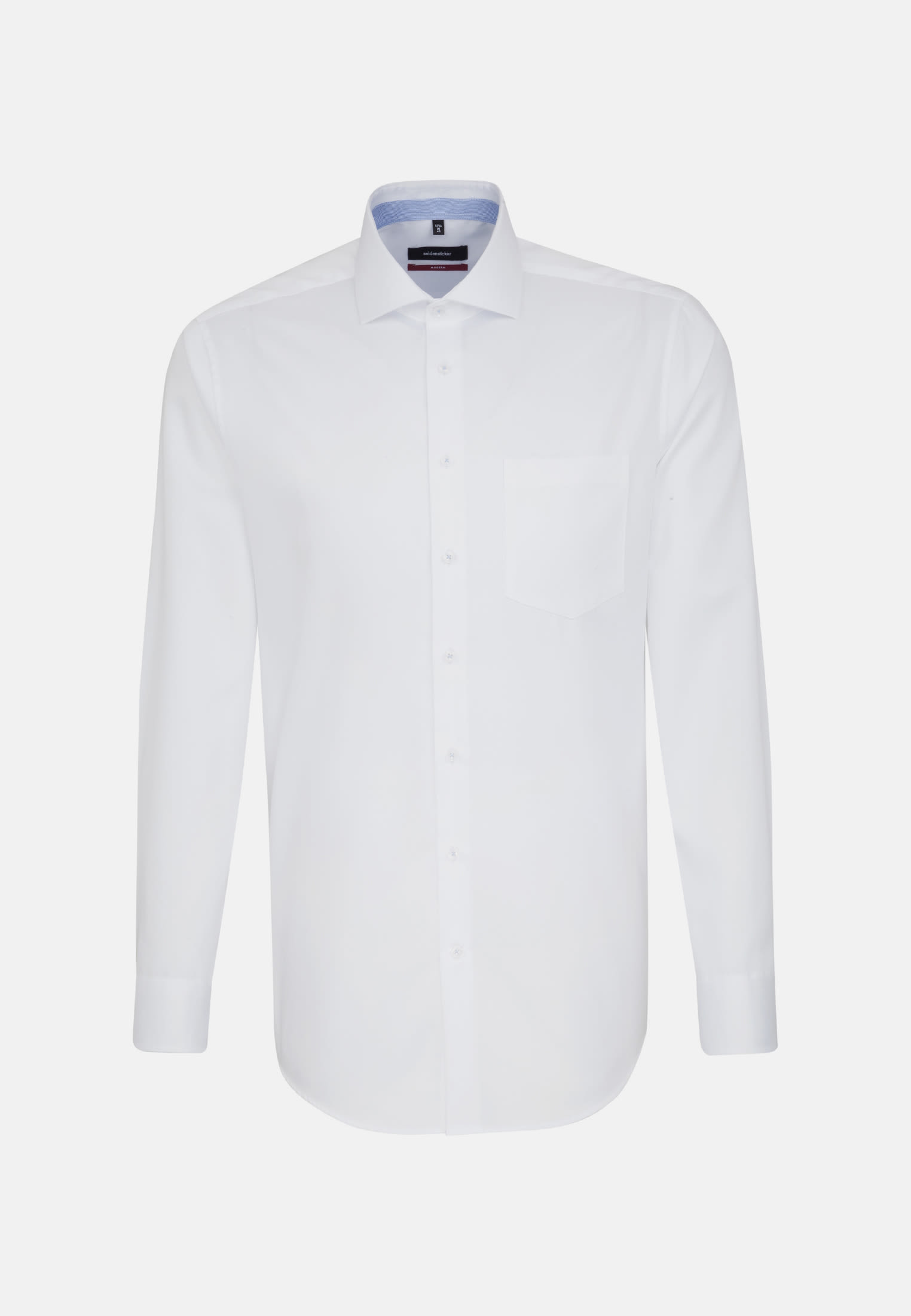 Non-iron Twill Business Shirt in Regular with Kent-Collar and extra long arm in White |  Seidensticker Onlineshop