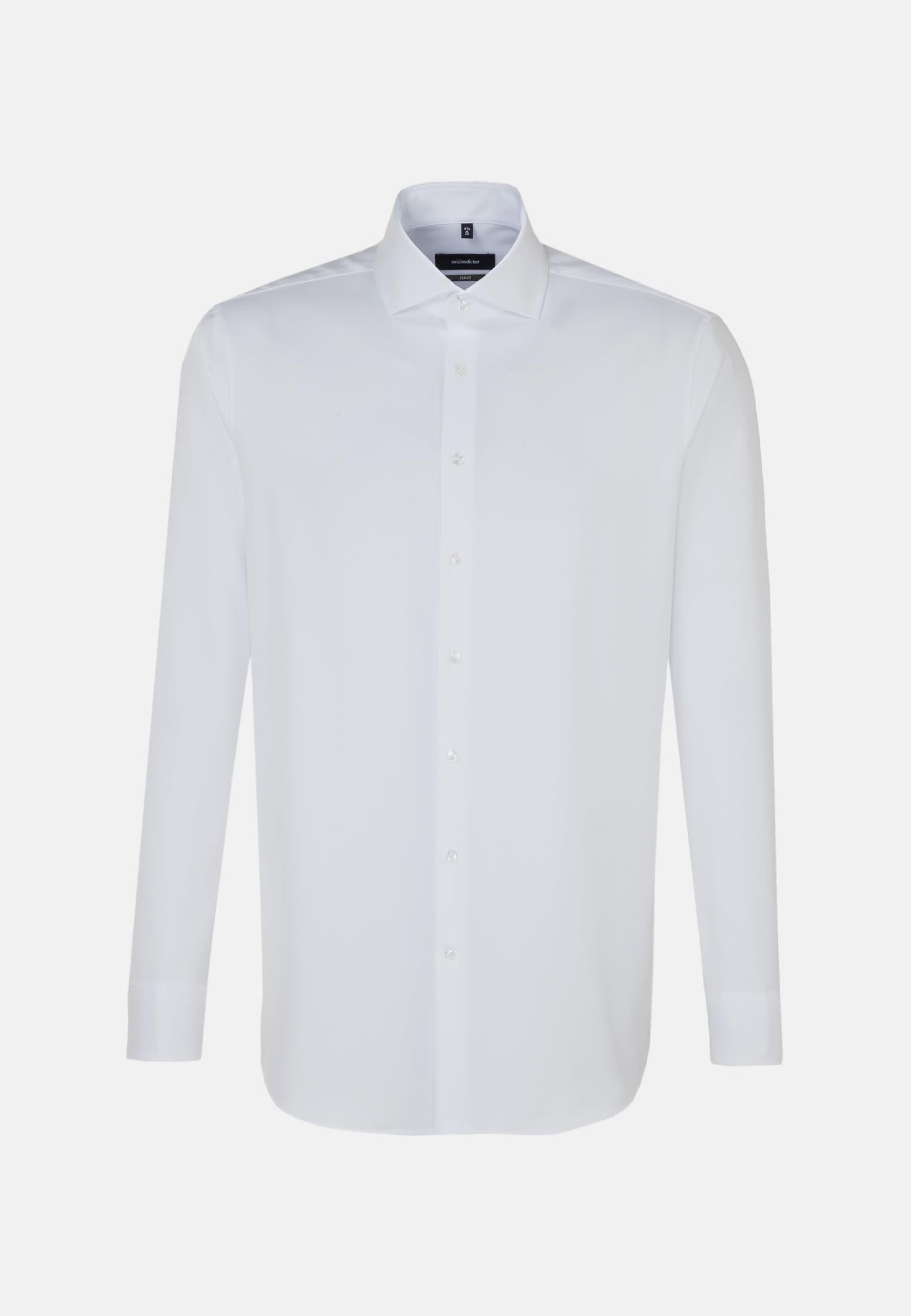 Easy-iron Twill Business Shirt in Comfort with Kent-Collar in weiß |  Seidensticker Onlineshop