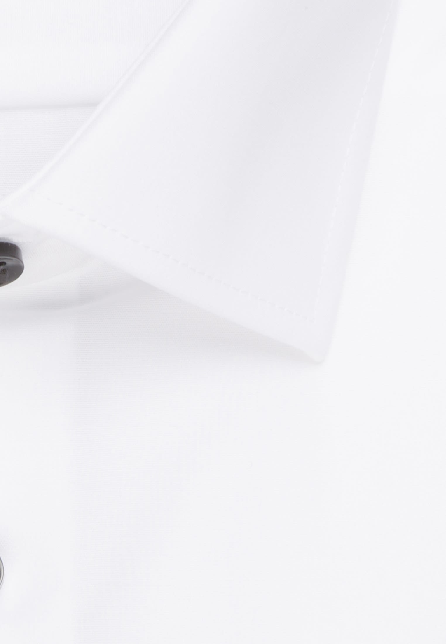 Non-iron Chambray Business Shirt in Comfort with Kent-Collar in White    Seidensticker Onlineshop