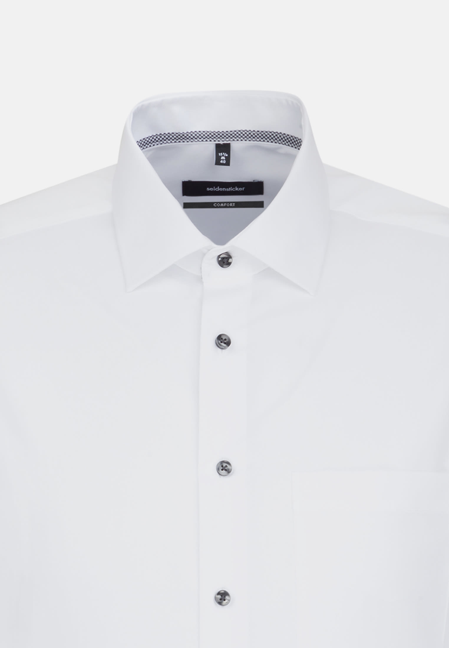 Non-iron Chambray Business Shirt in Comfort with Kent-Collar in White |  Seidensticker Onlineshop
