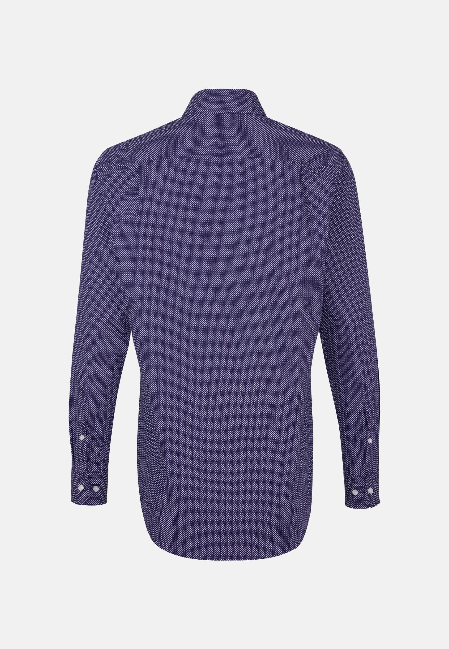 Bügelleichtes Popeline Business Hemd in Regular mit Kentkragen in Lila |  Seidensticker Onlineshop