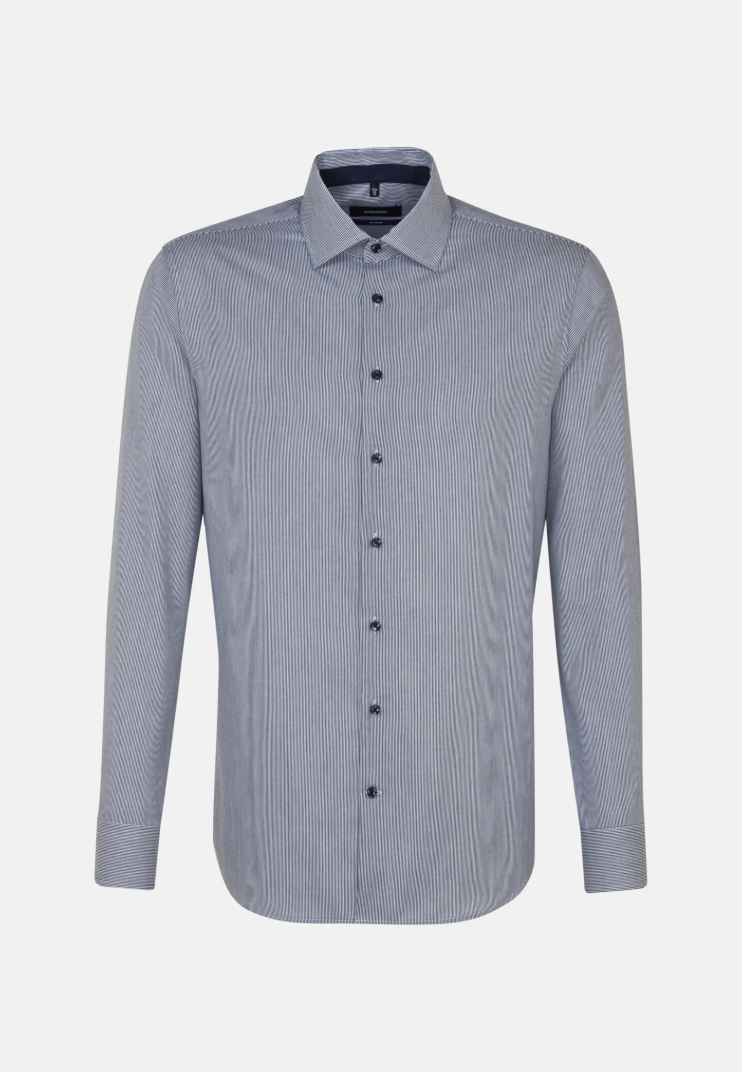 Non-iron Twill Business Shirt in Shaped with Kent-Collar in Dark blue |  Seidensticker Onlineshop