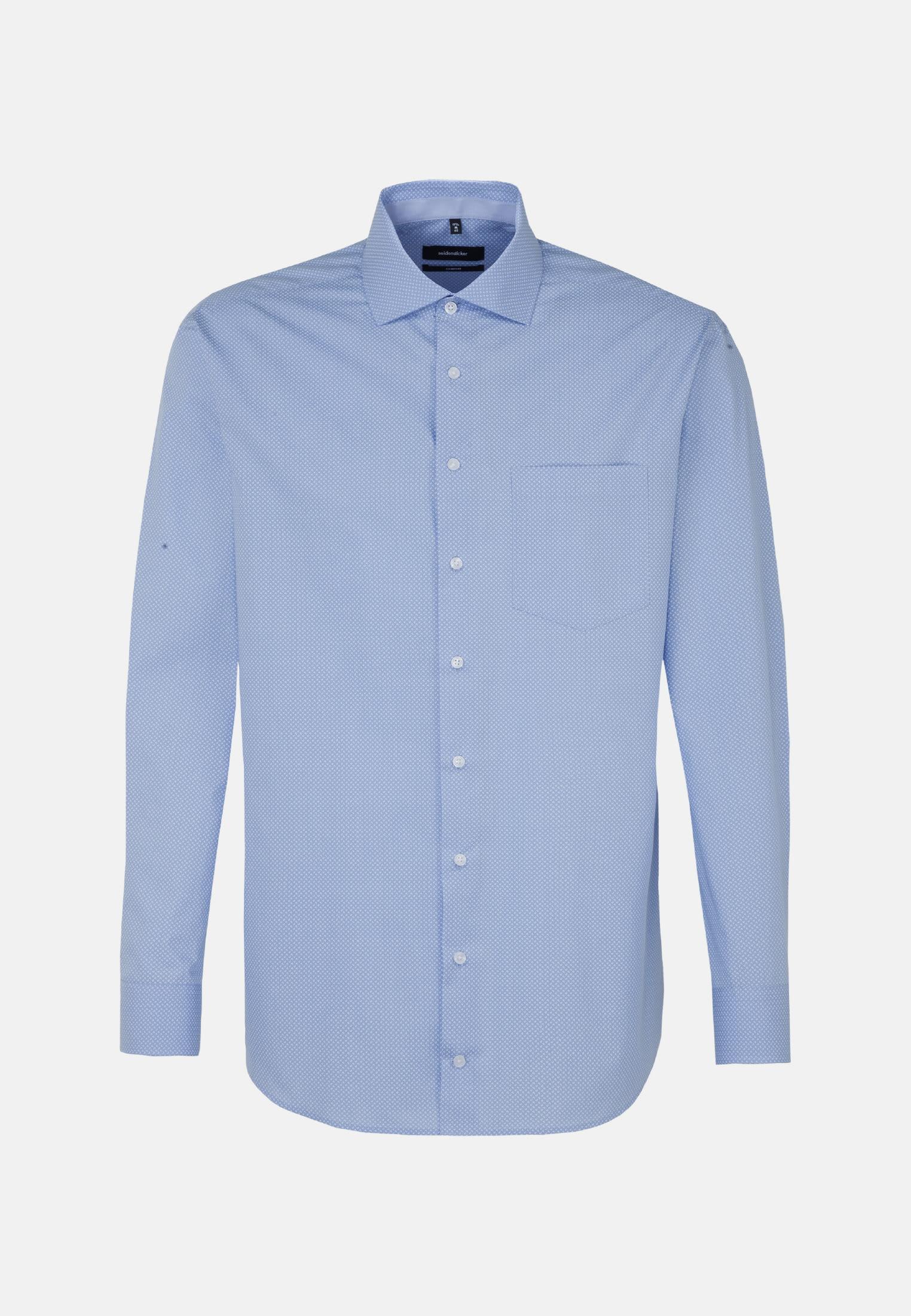Easy-iron Poplin Business Shirt in Comfort with Kent-Collar in hellblau |  Seidensticker Onlineshop