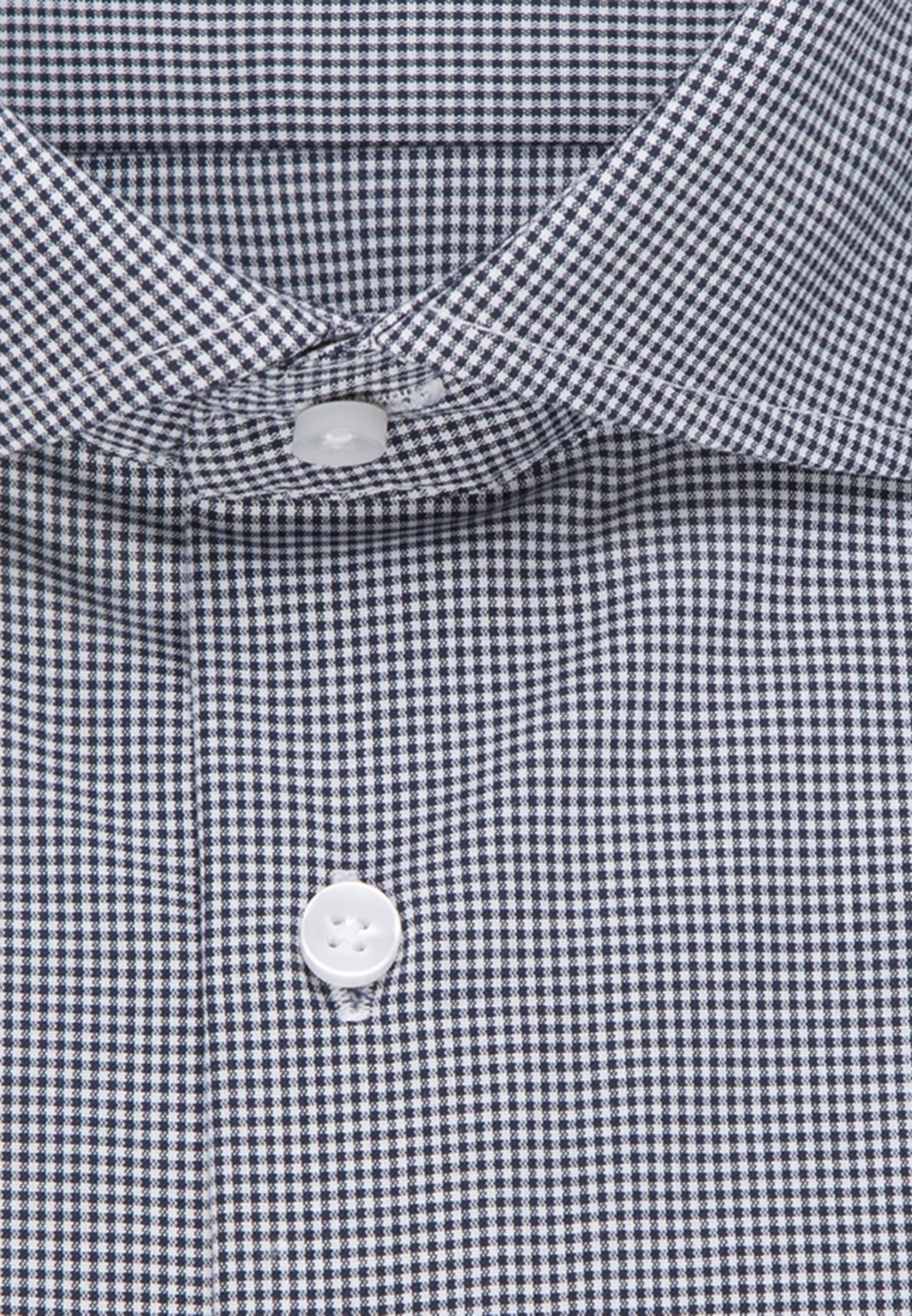 Non-iron Poplin Business Shirt in Slim with Kent-Collar and extra long sleeve in Dark blue |  Seidensticker Onlineshop