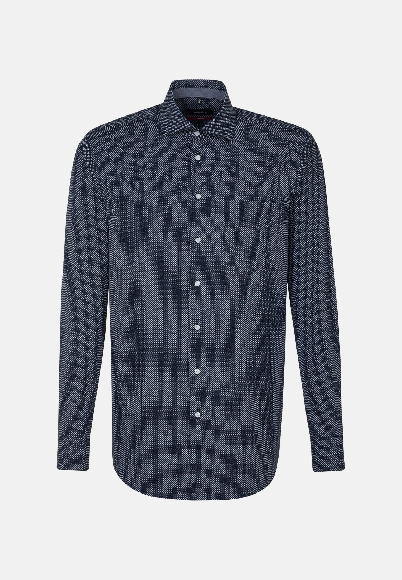 Easy-iron Poplin Business Shirt in Modern with Kent-Collar and extra long arm in blau |  Seidensticker Onlineshop