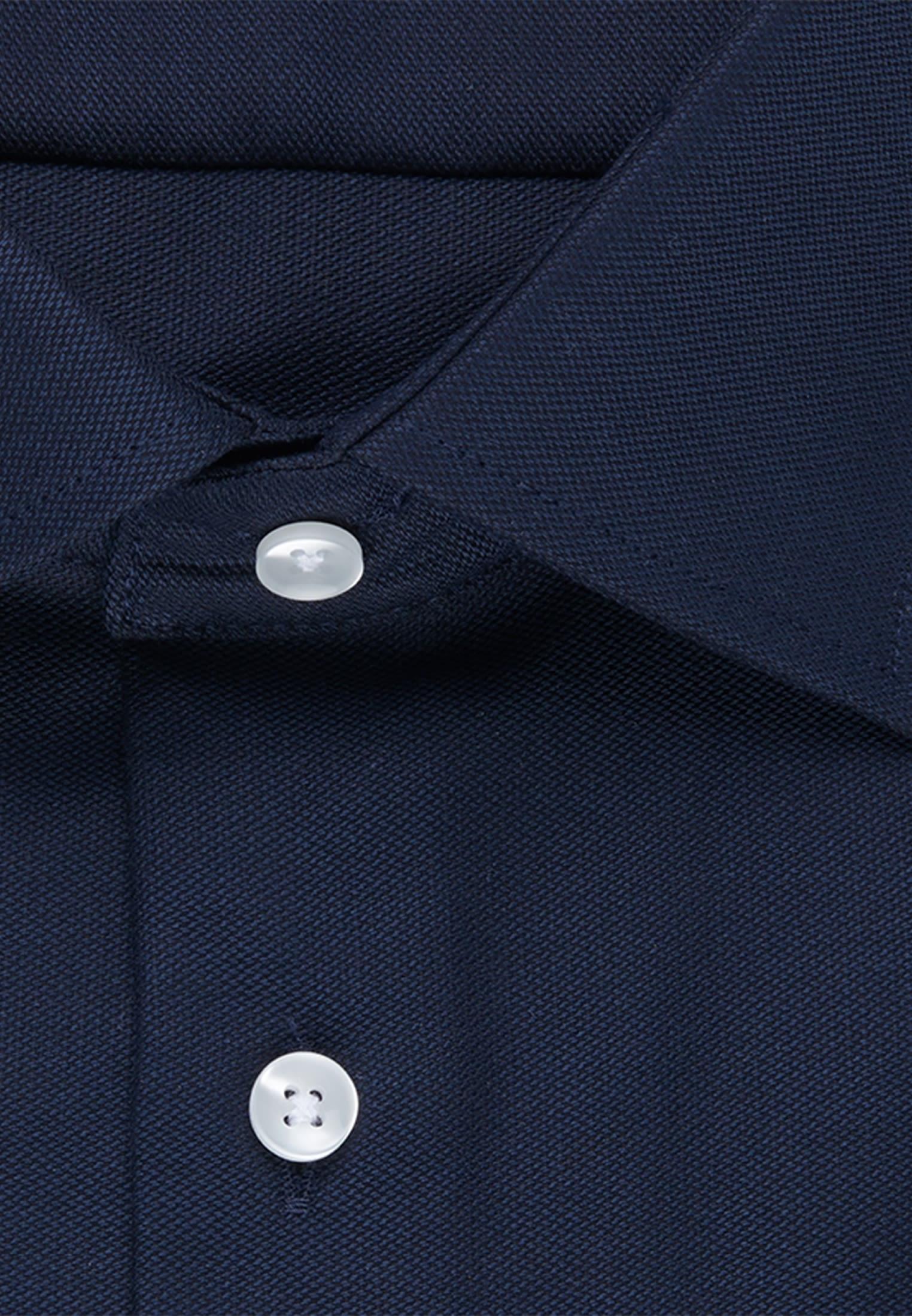 Non-iron Structure Business Shirt in Slim with Kent-Collar and extra long sleeve in Dark blue |  Seidensticker Onlineshop
