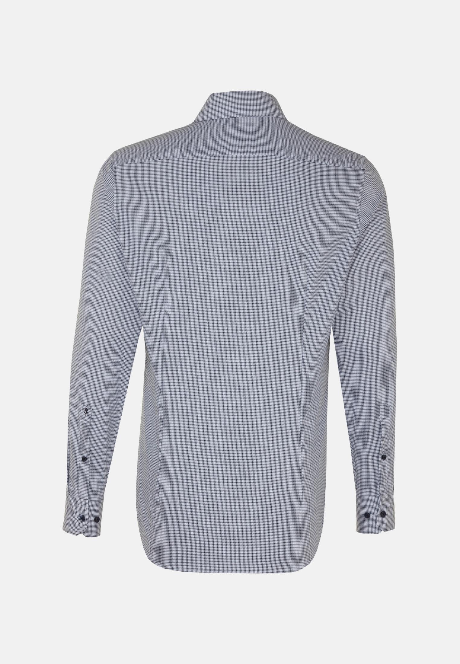 Bügelfreies Twill Business Hemd in Slim mit Kentkragen in Dunkelblau |  Seidensticker Onlineshop