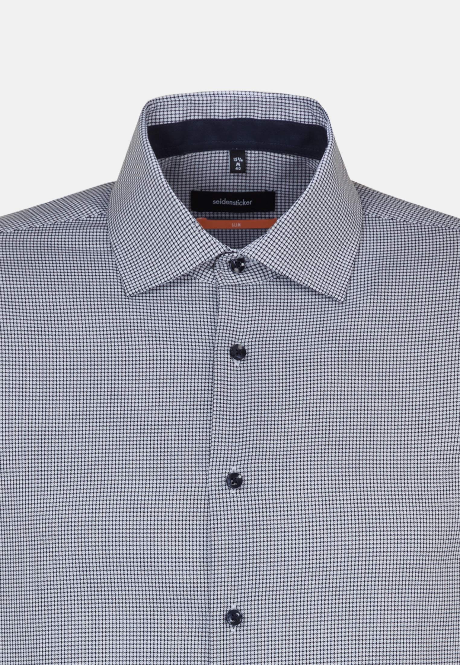 Non-iron Twill Business Shirt in Slim with Kent-Collar in Dark blue |  Seidensticker Onlineshop