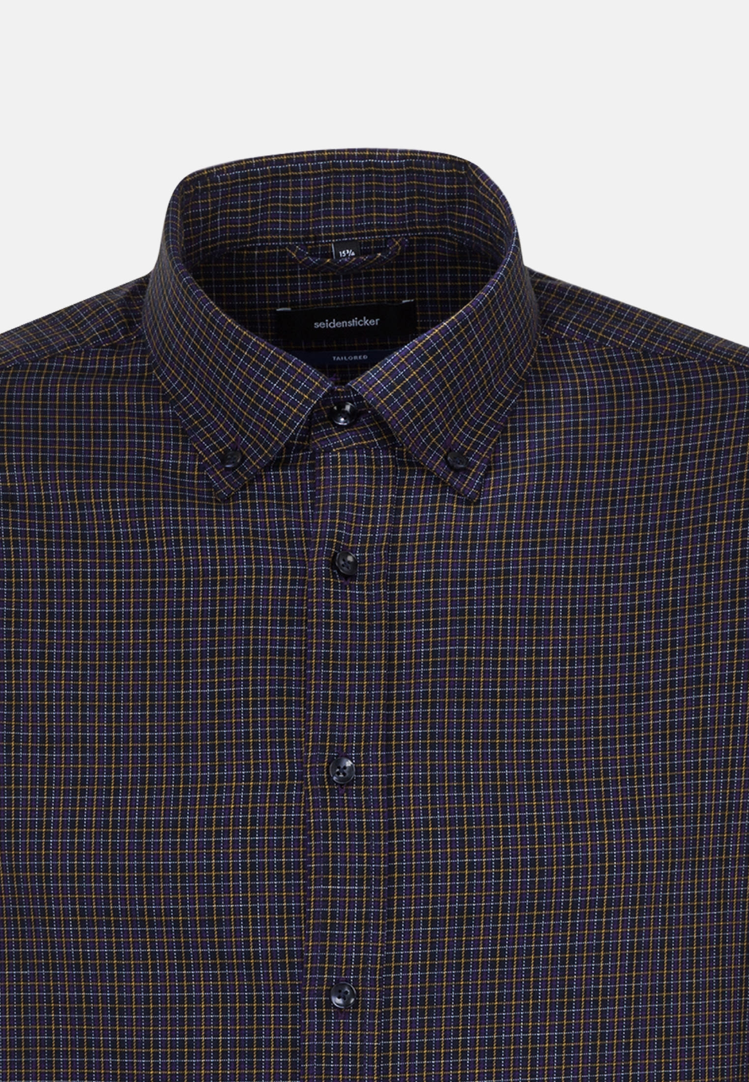 Bügelleichtes Twill Business Hemd in Shaped mit Button-Down-Kragen in Lila |  Seidensticker Onlineshop