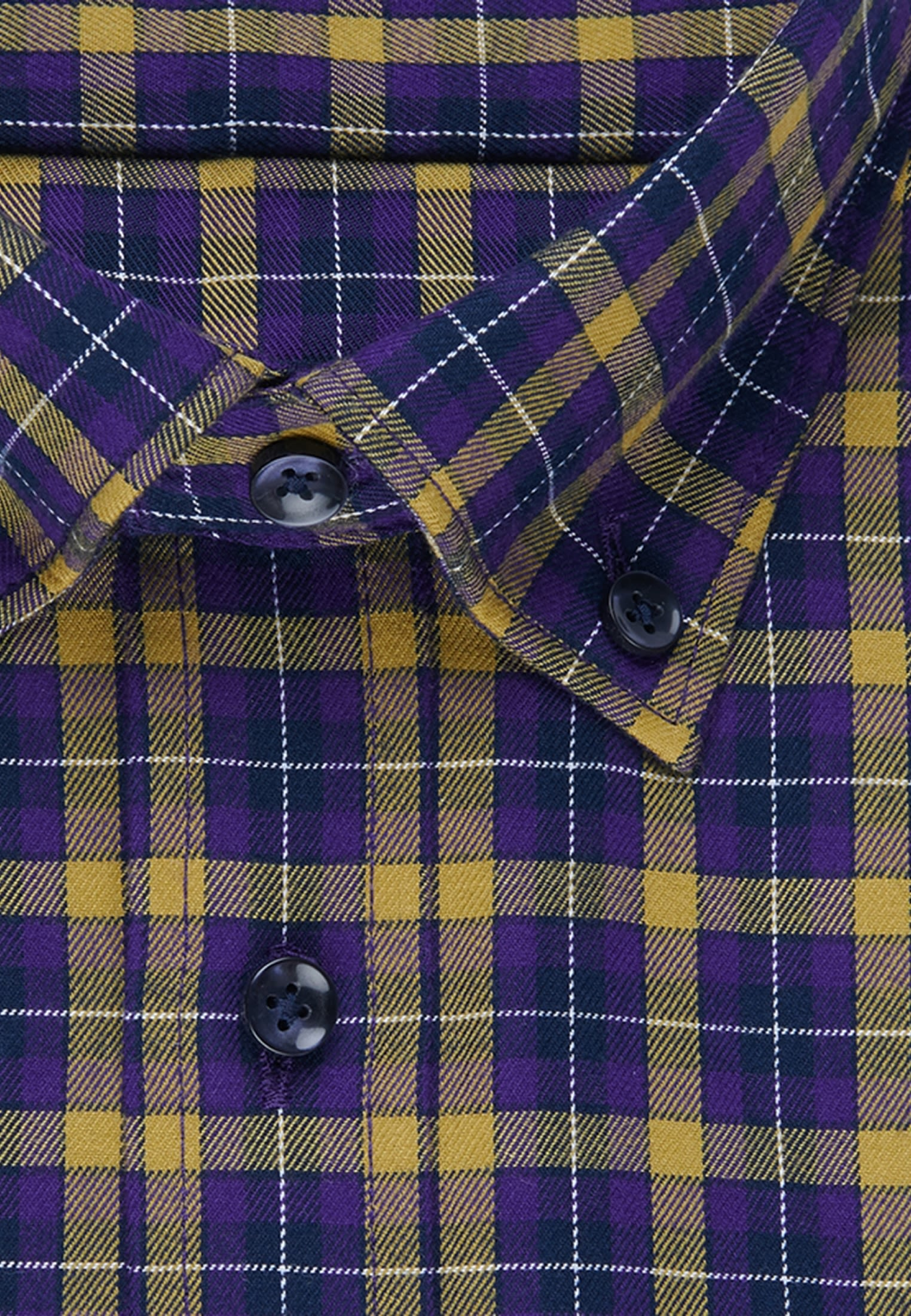 Easy-iron Twill Business Shirt in Shaped with Button-Down-Collar in Yellow |  Seidensticker Onlineshop