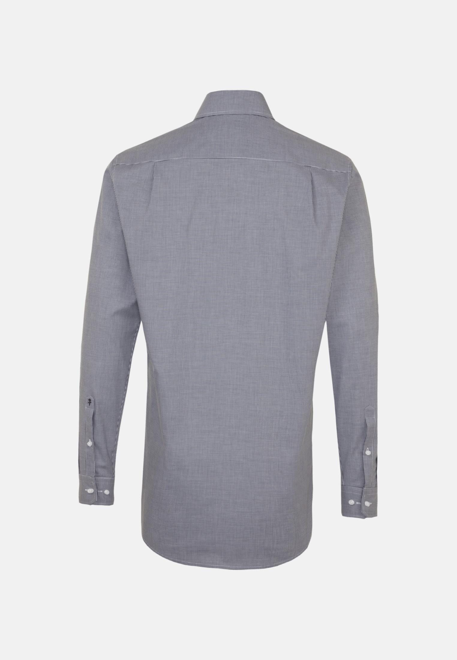 Bügelfreies Popeline Business Hemd in Modern mit Kentkragen und extra langem Arm in Dunkelblau |  Seidensticker Onlineshop