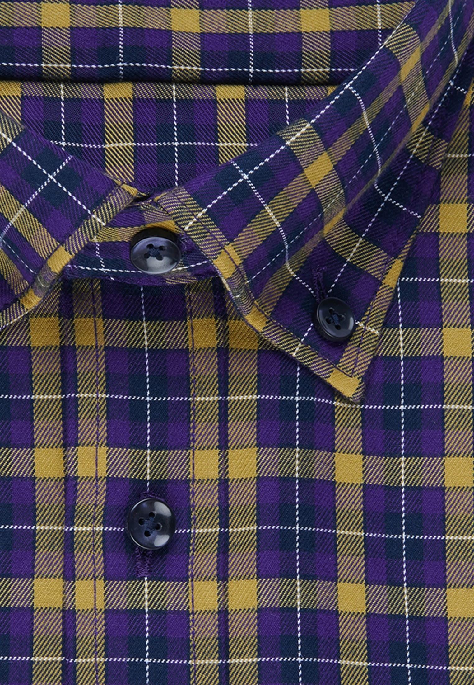 Easy-iron Twill Business Shirt in Slim with Button-Down-Collar in Yellow |  Seidensticker Onlineshop