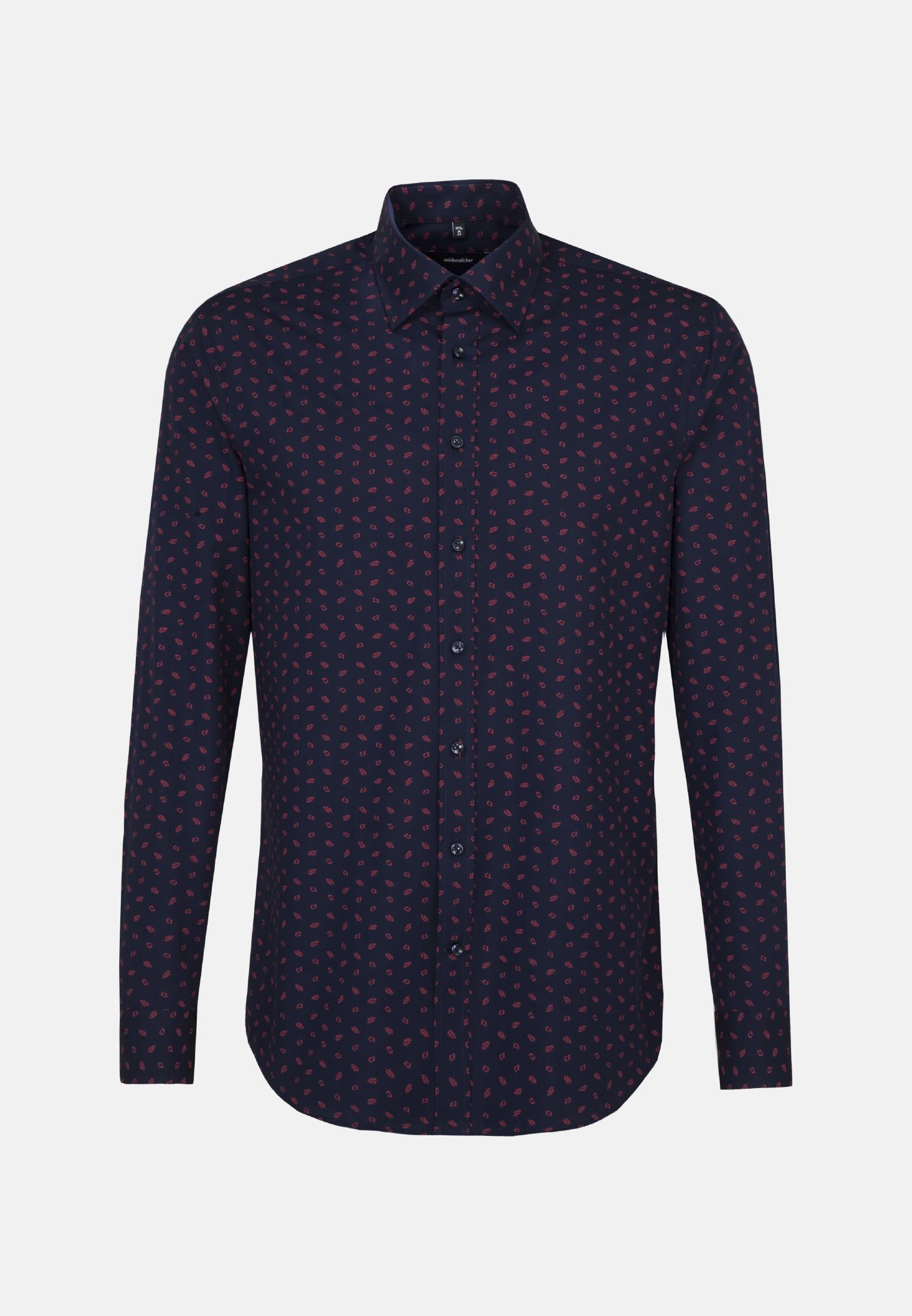 Bügelleichtes Popeline Business Hemd in Modern mit Covered-Button-Down-Kragen in Rot |  Seidensticker Onlineshop