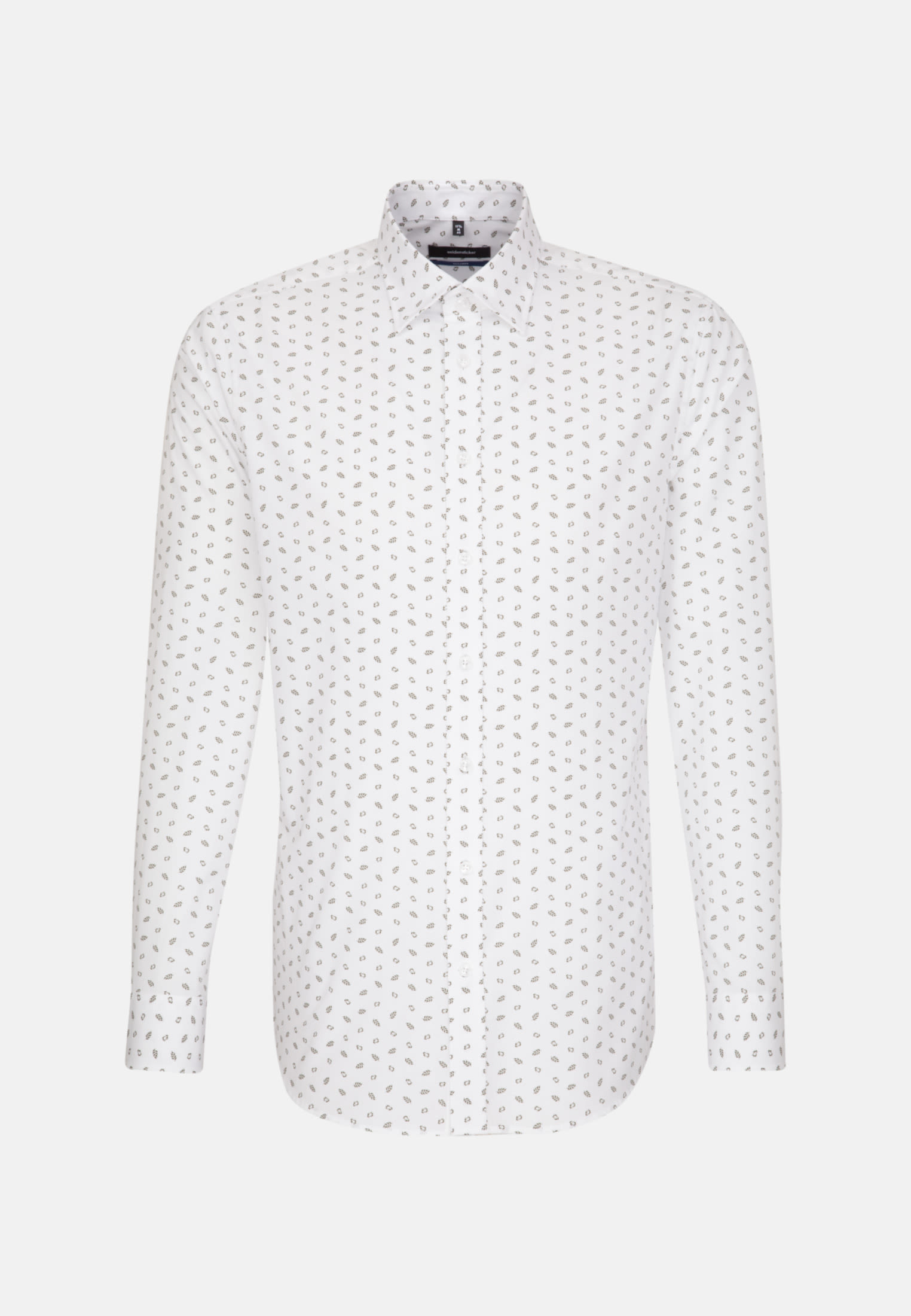 Bügelleichtes Popeline Business Hemd in Shaped mit Covered-Button-Down-Kragen in Grün |  Seidensticker Onlineshop