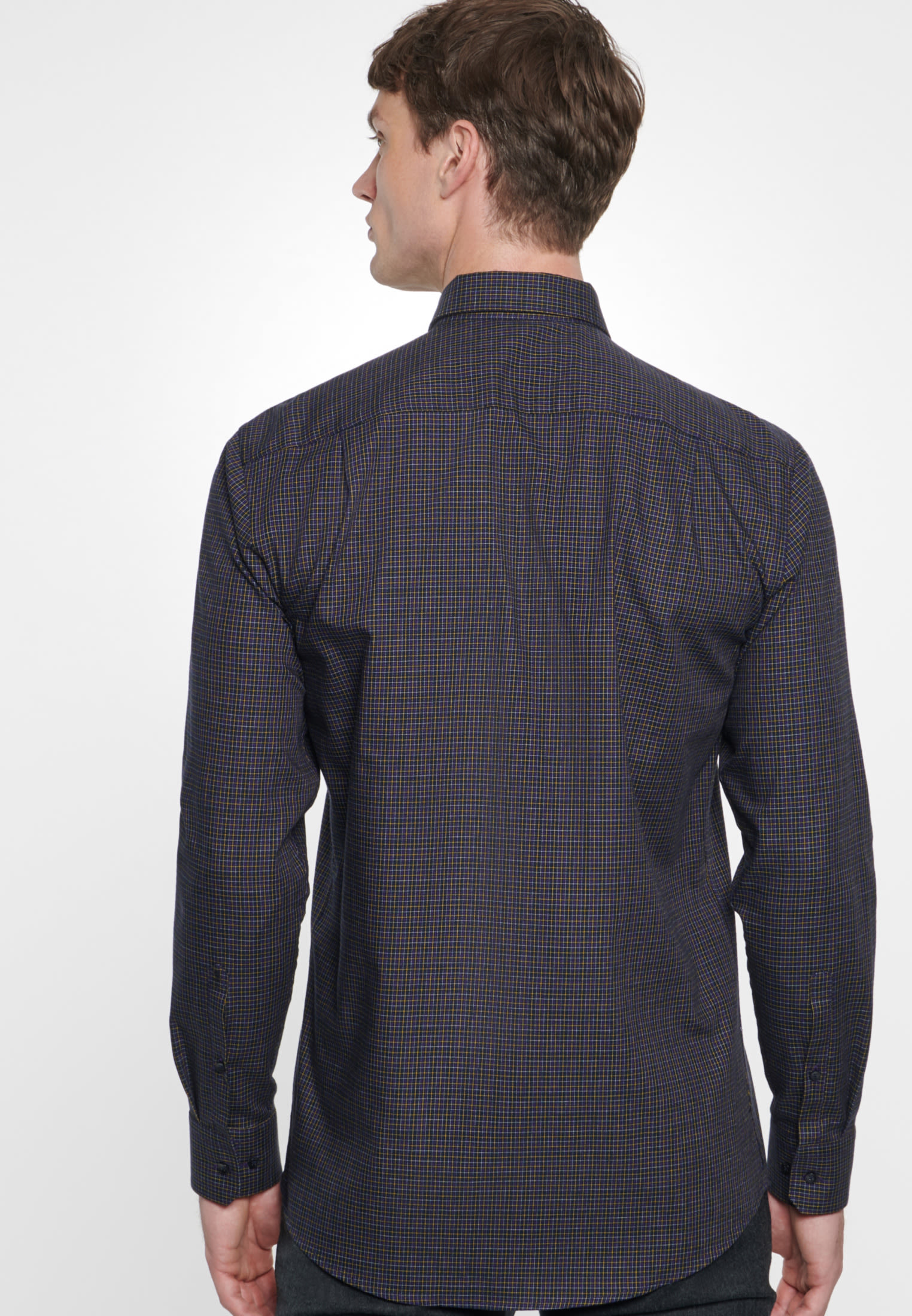 Easy-iron Twill Business Shirt in Modern with Button-Down-Collar in Purpla |  Seidensticker Onlineshop