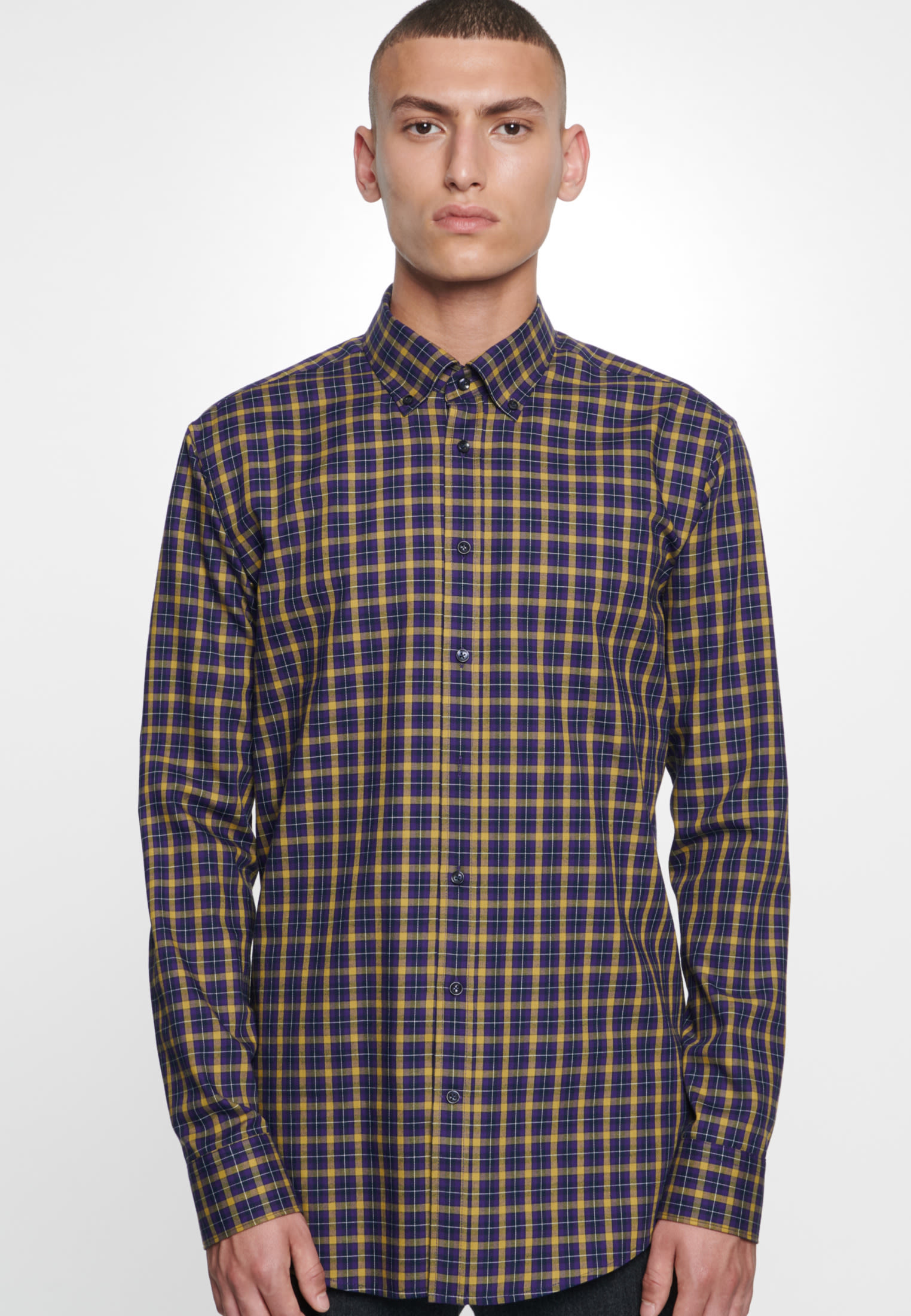 Easy-iron Twill Business Shirt in Regular with Button-Down-Collar in Yellow |  Seidensticker Onlineshop